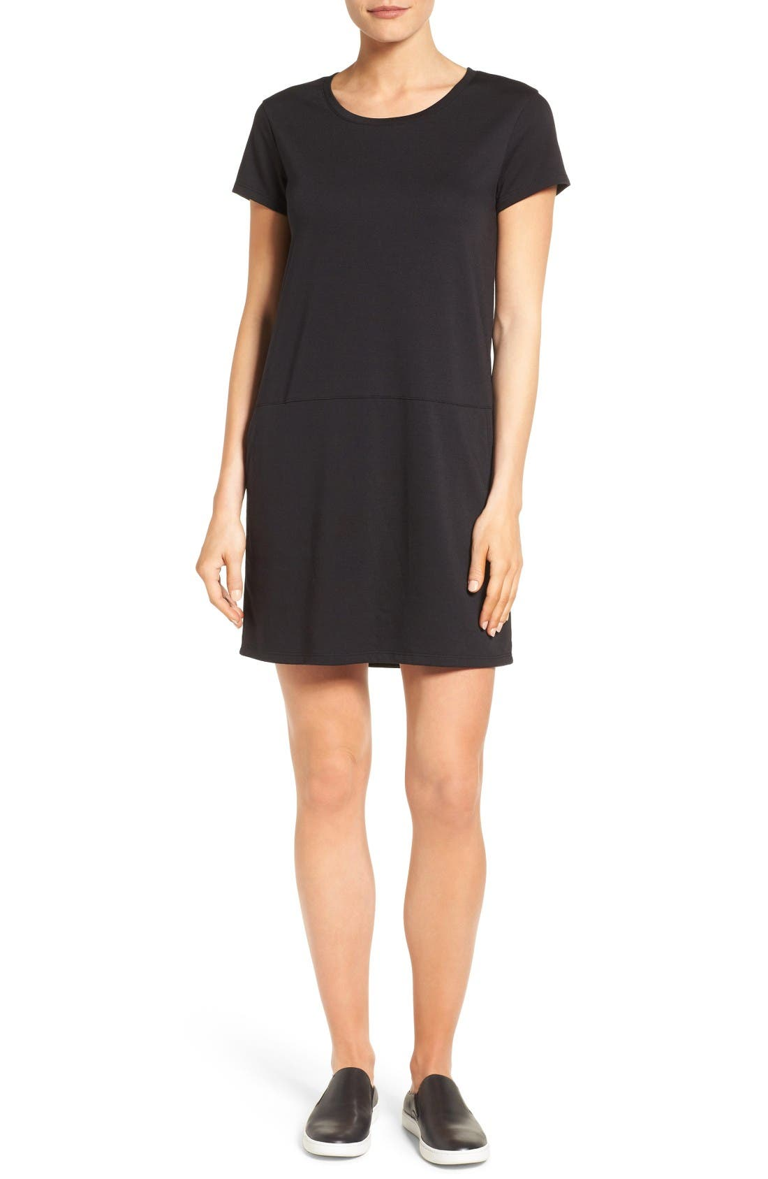 Caslon® Knit Shift Dress (Regular & Petite)
