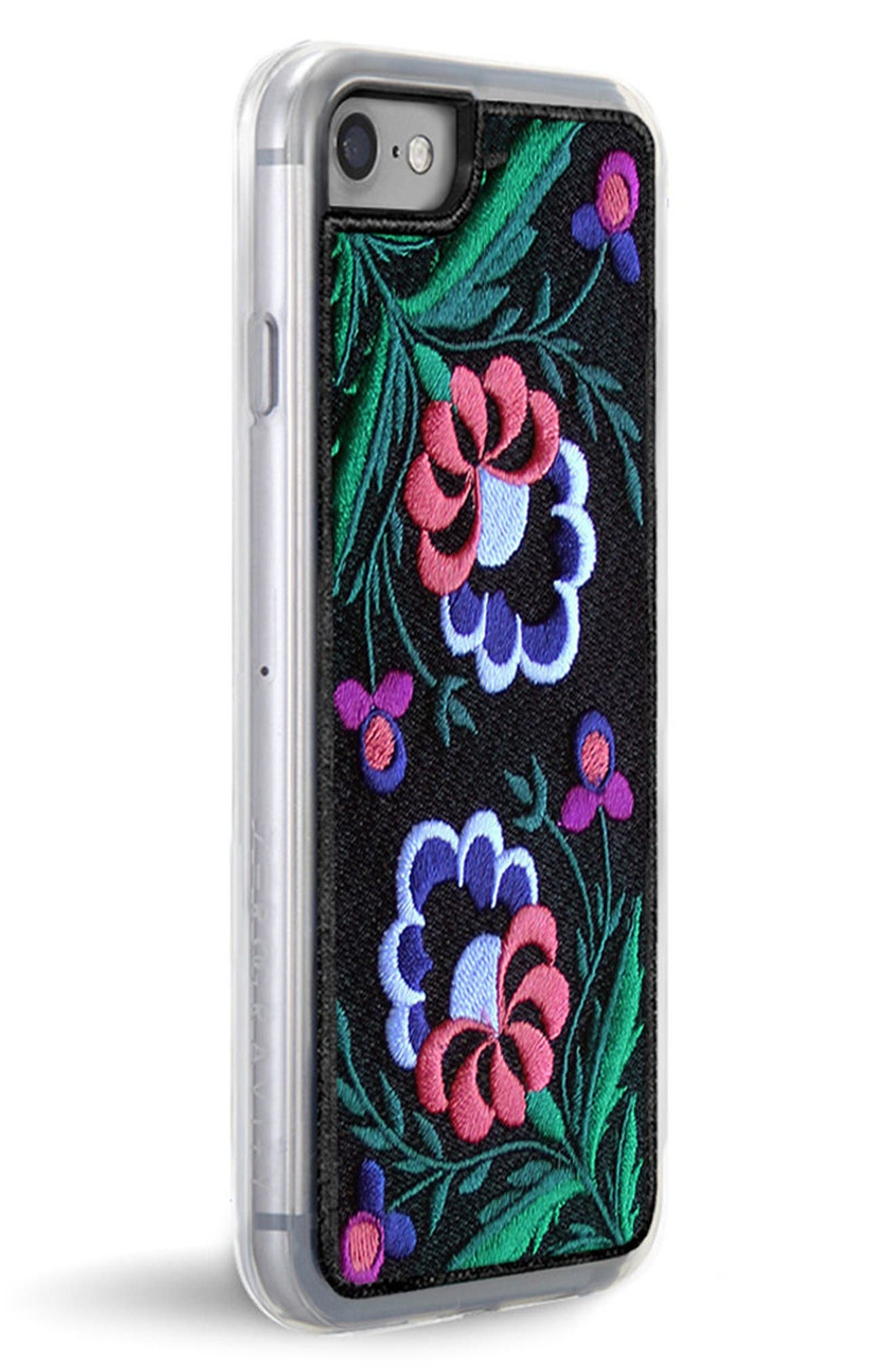 Belle Embroidered iPhone 7/8 & 7/8 Plus Case,                             Alternate thumbnail 2, color,                             Black Multi