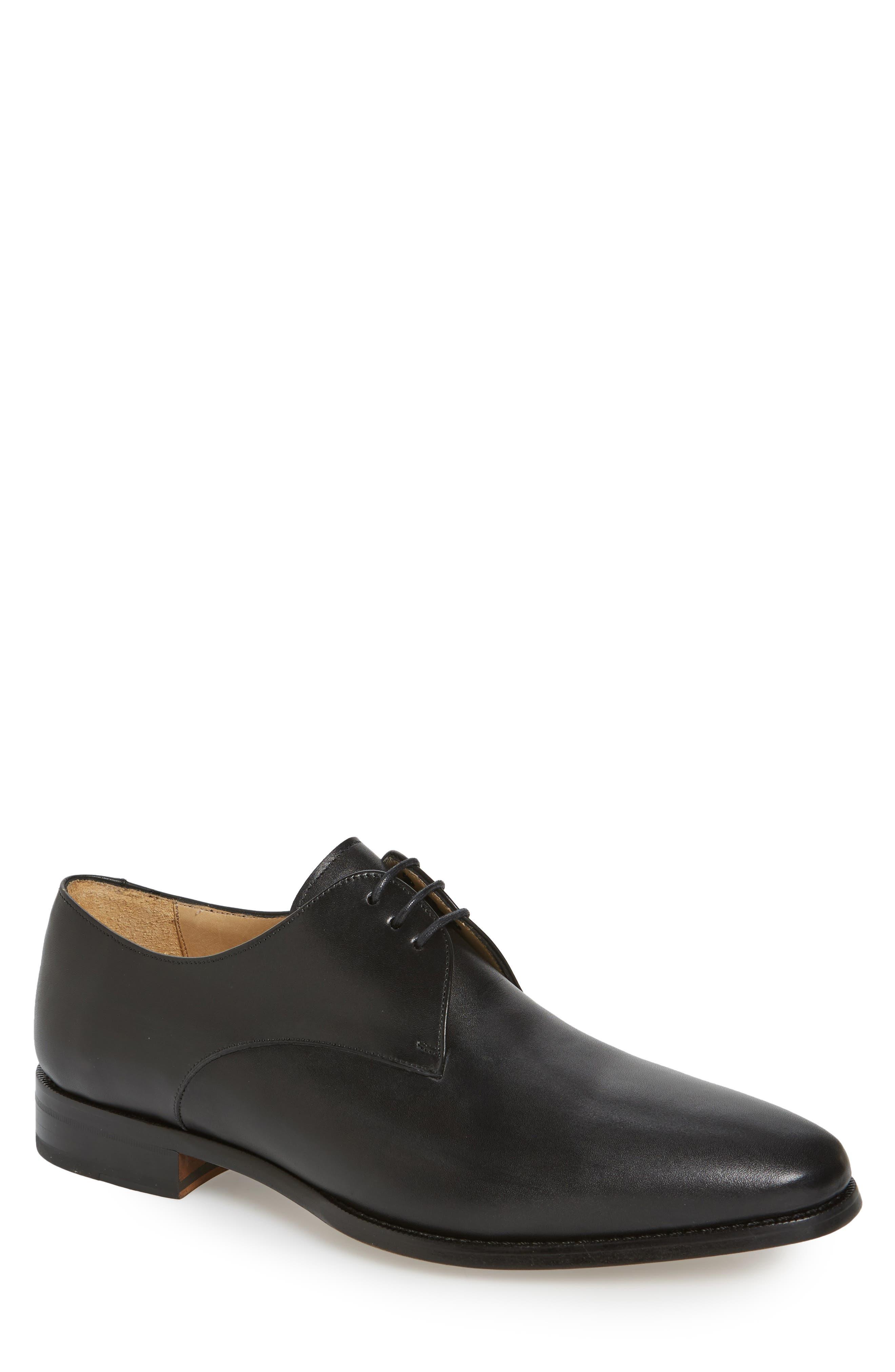Mitch Plain Toe Derby,                         Main,                         color, Black Leather