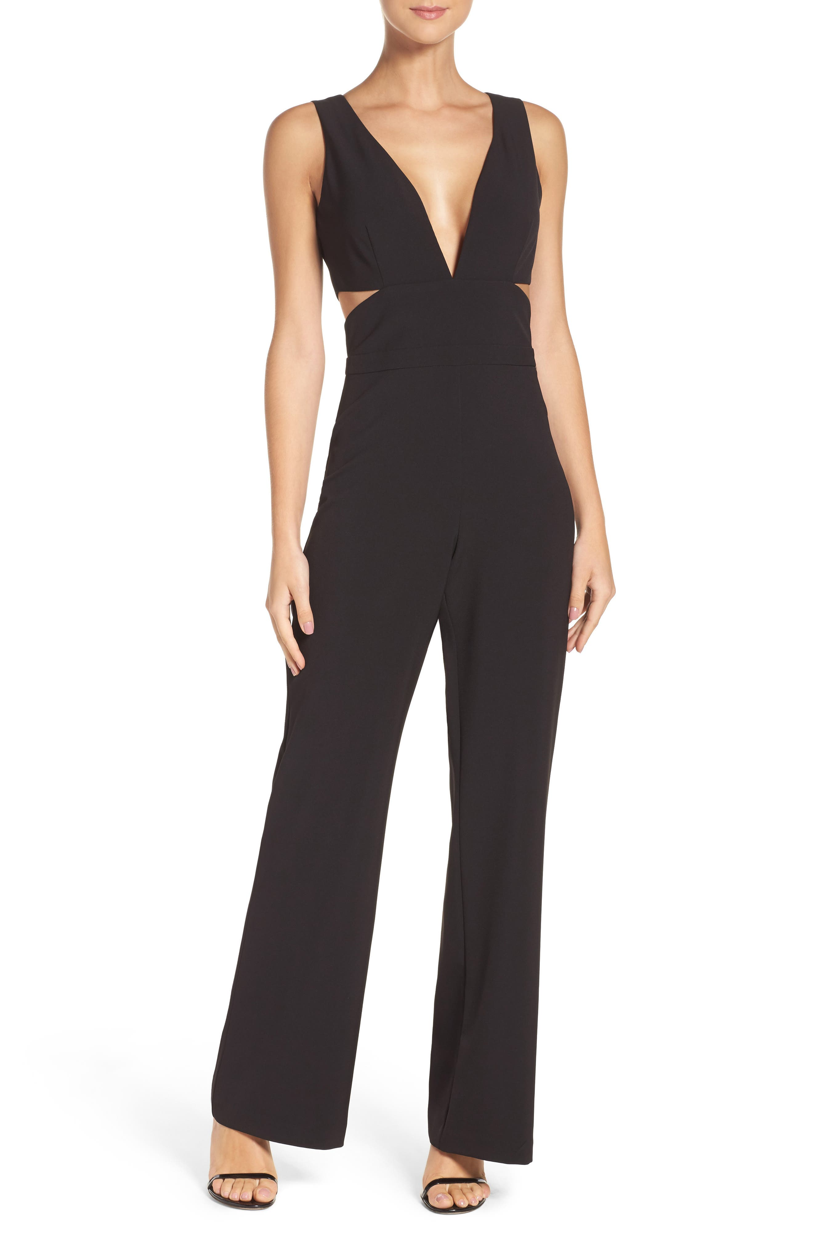 Alternate Image 1 Selected - Laundry by Shelli Segal Cutout Jumpsuit