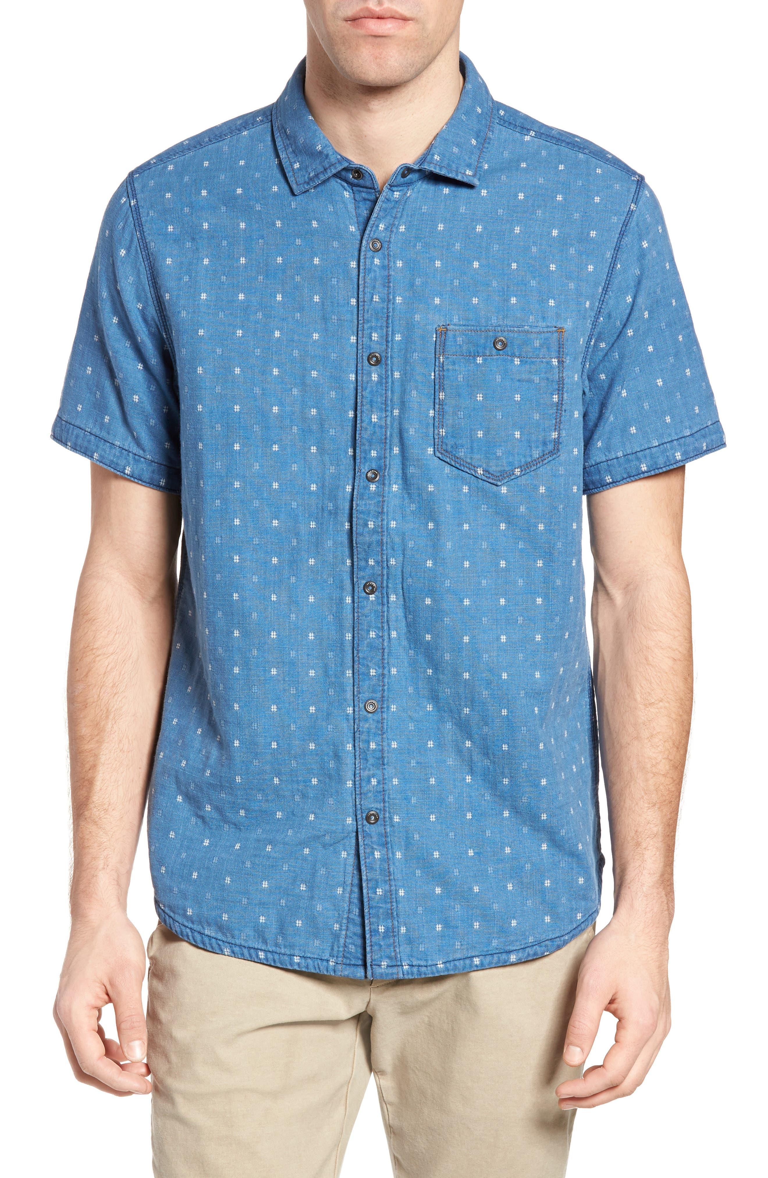 Kit Reversible Jacquard Sport Shirt,                         Main,                         color, Monsoon