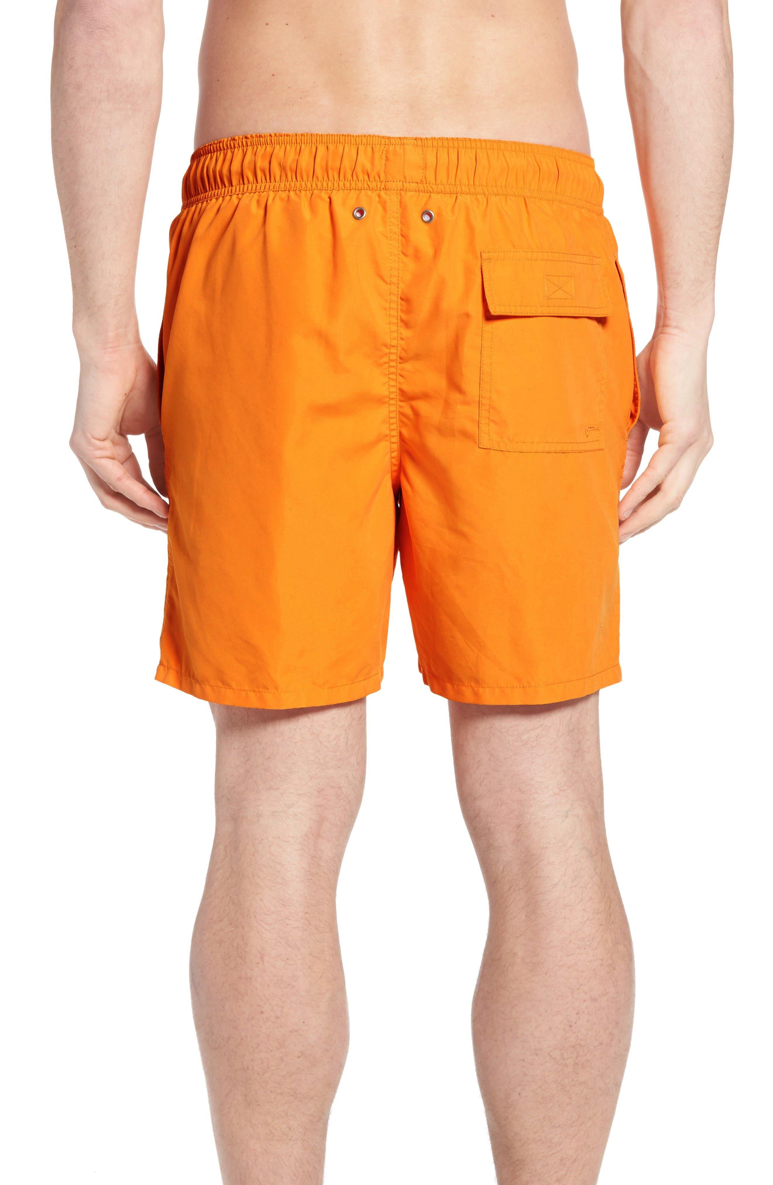 Swim Trunks,                             Alternate thumbnail 2, color,                             Baked Orange