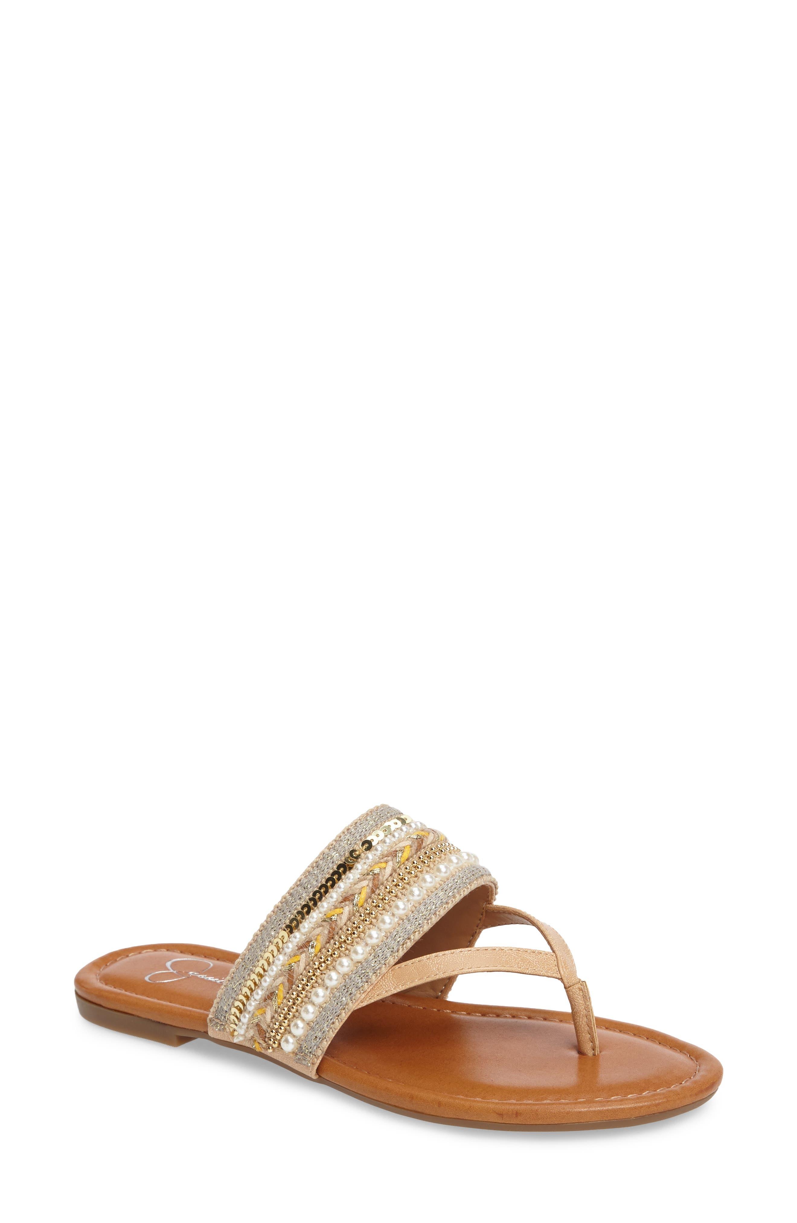 Alternate Image 1 Selected - Jessica Simpson Ronette Embellished Flip Flop (Women)