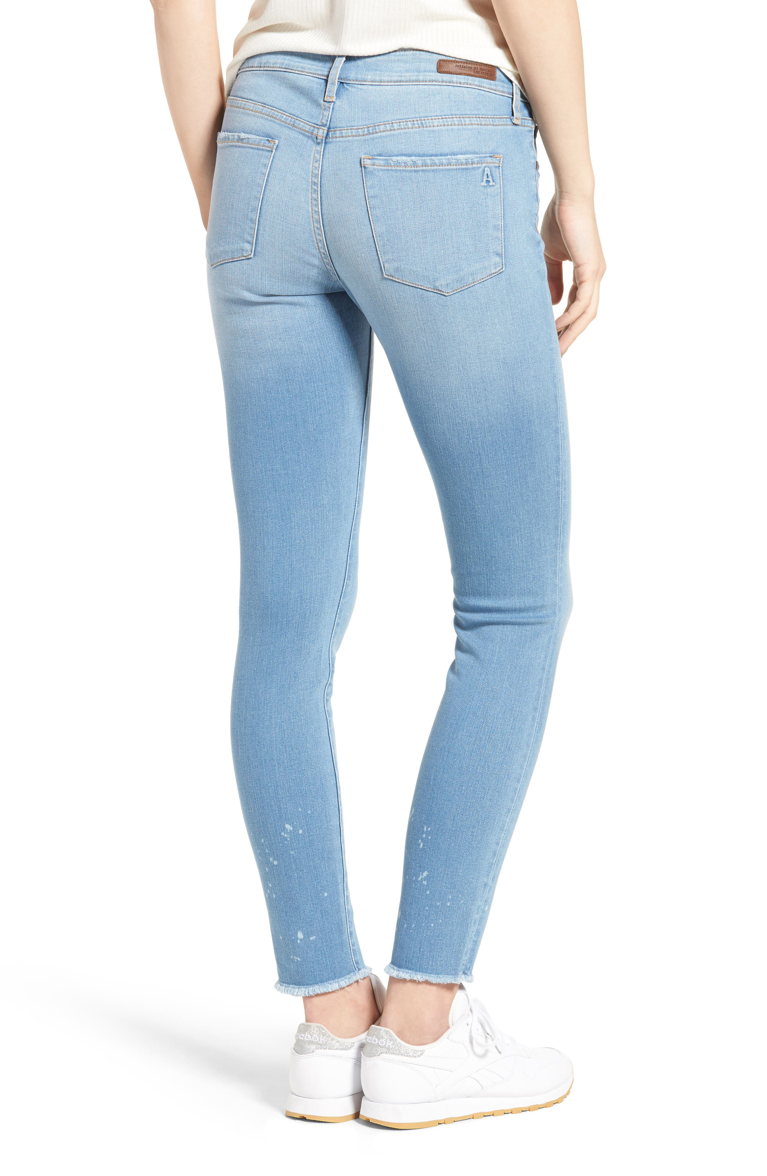 Alternate Image 2  - Articles of Society Sarah Skinny Jeans (Bay)