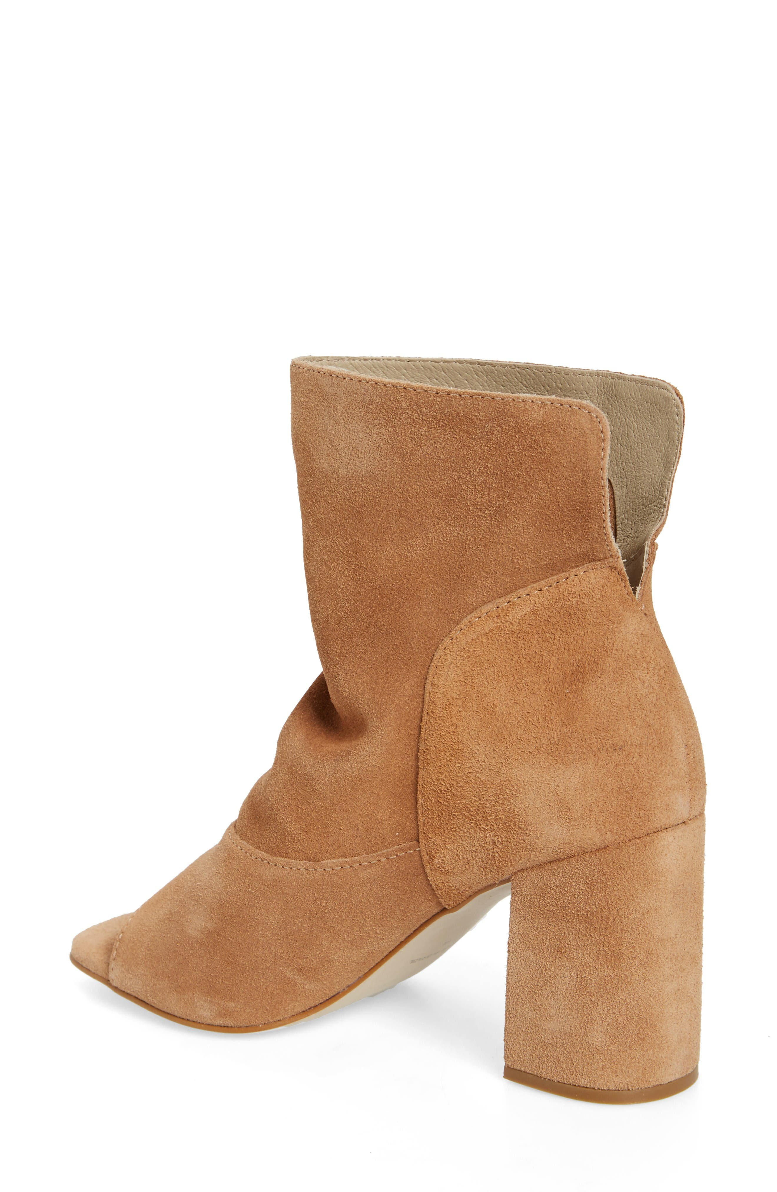 Gordy Peeptoe Bootie,                             Alternate thumbnail 2, color,                             Natural Suede