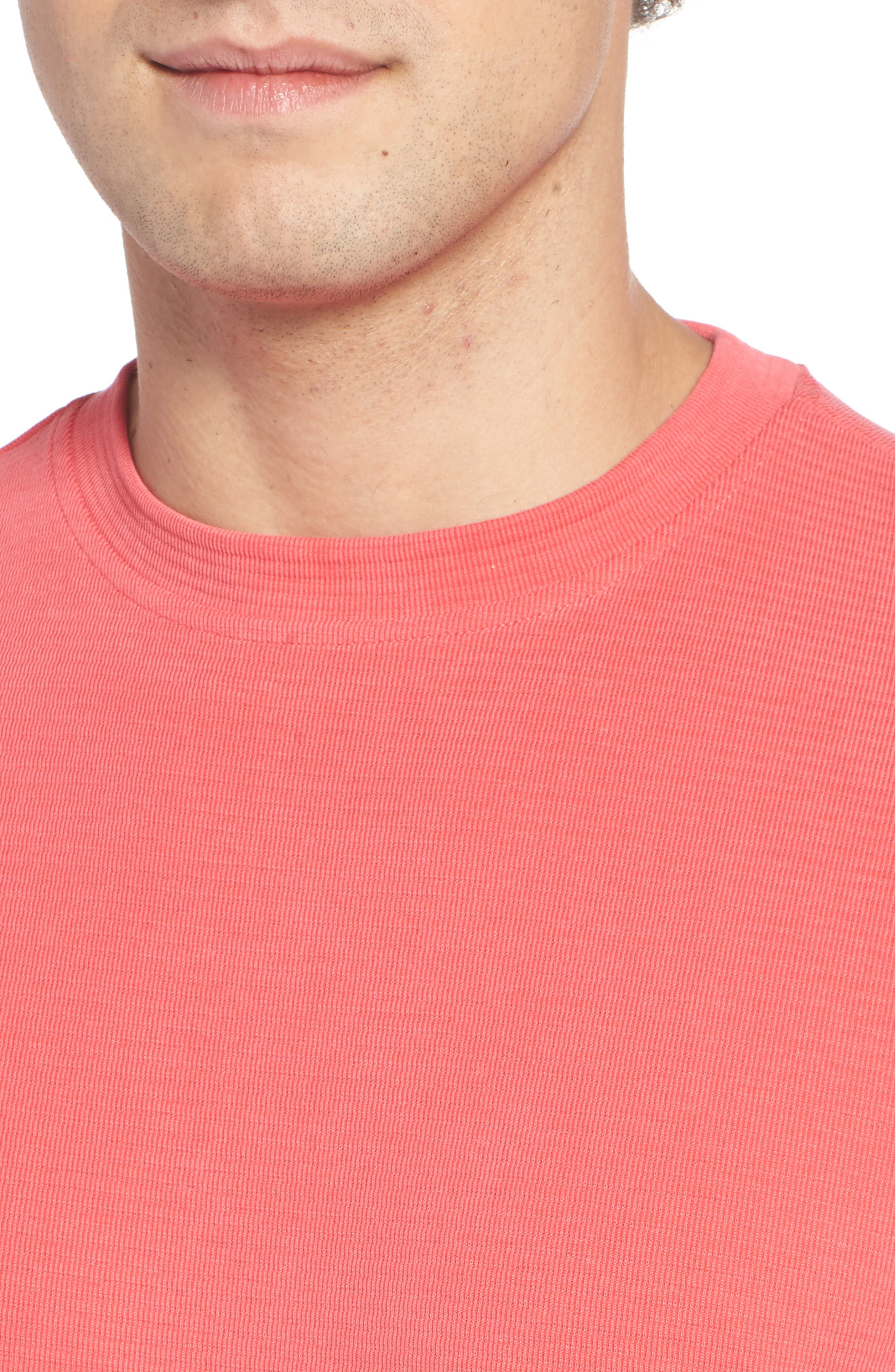 Crewneck T-Shirt,                             Alternate thumbnail 4, color,                             Cherry