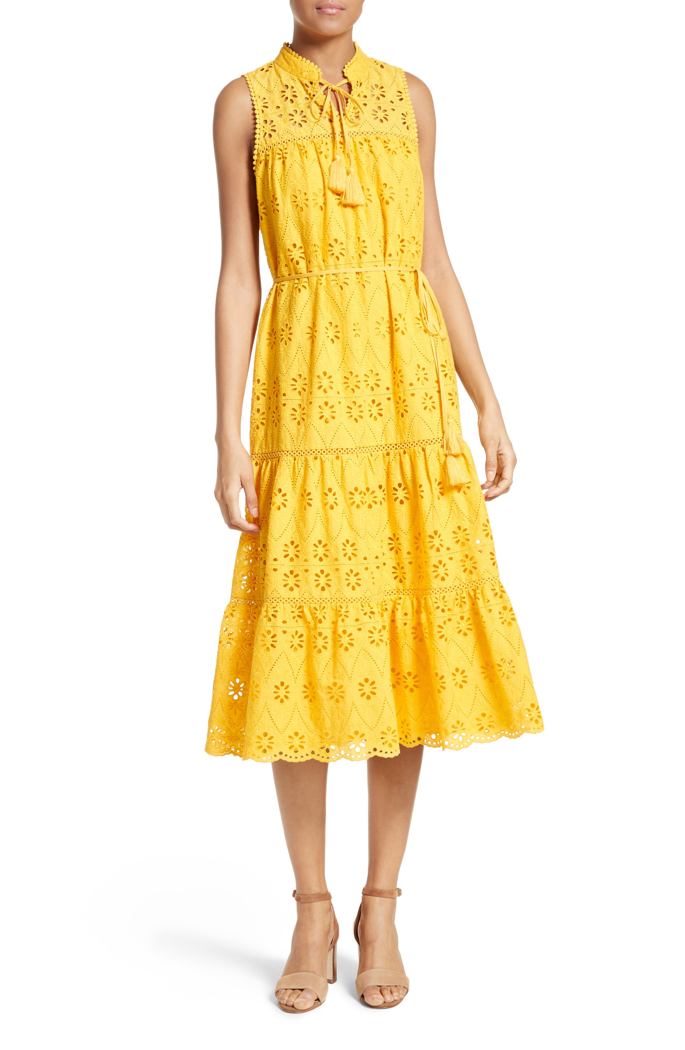 Alternate Image 1 Selected - kate spade new york eyelet embroidered patio dress