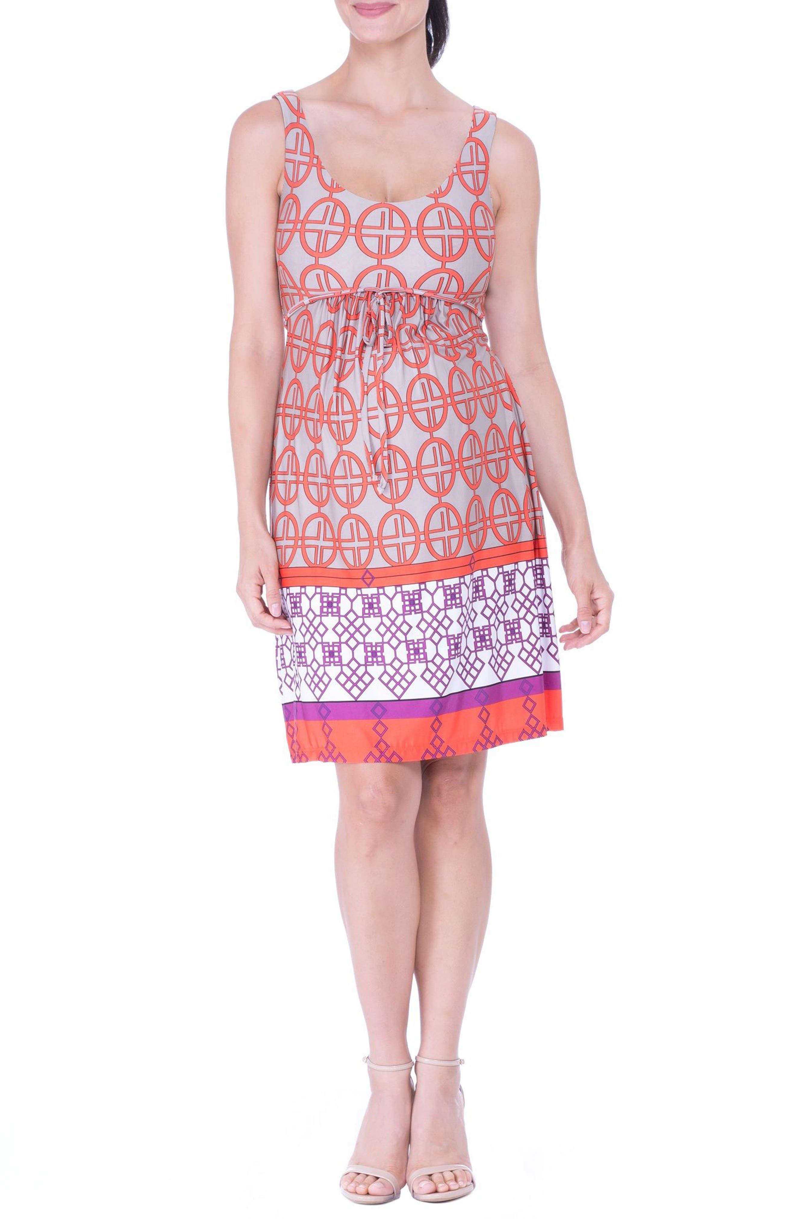 Scoop Neck Maternity Dress,                         Main,                         color, Orange