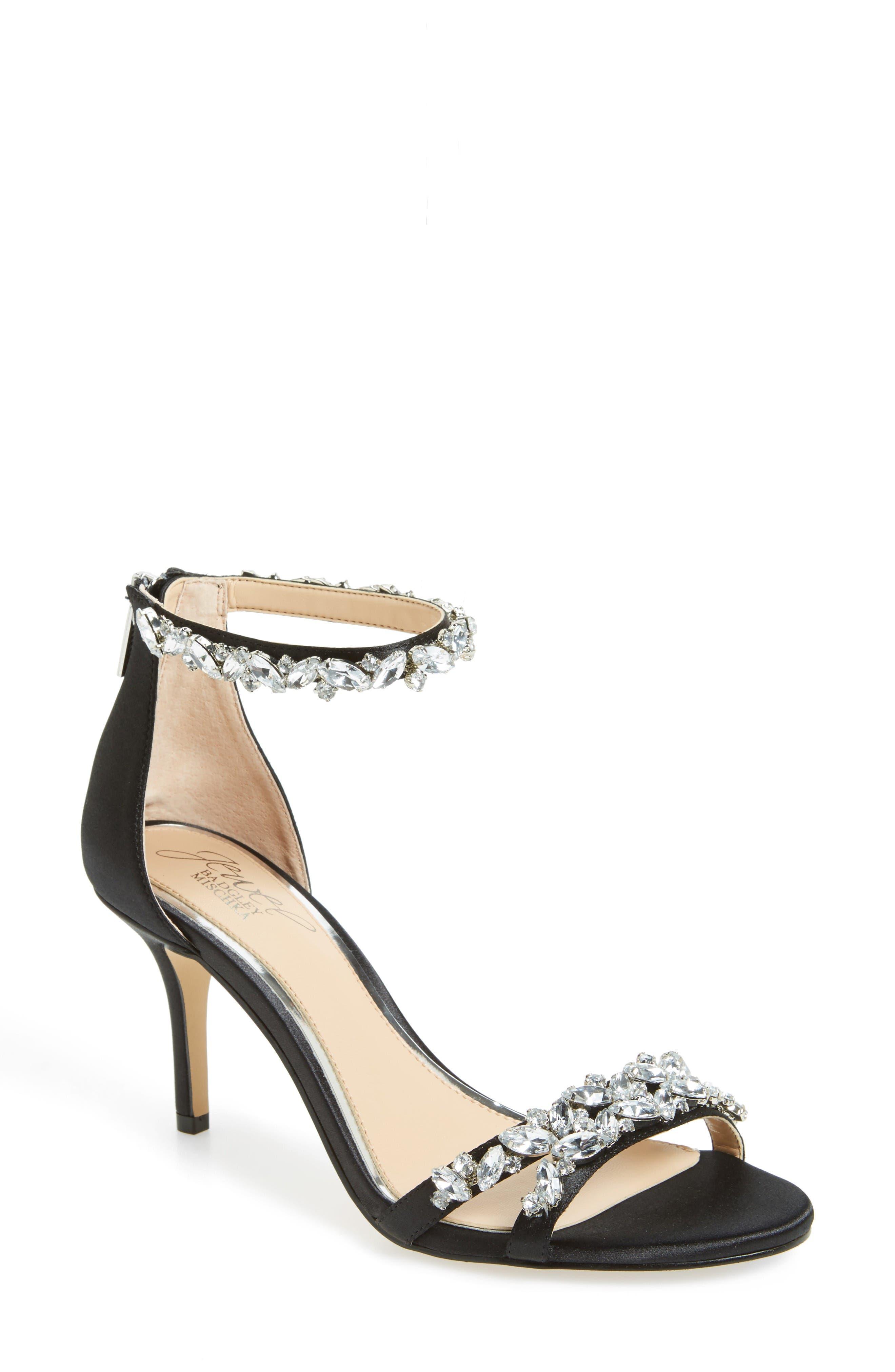 Alternate Image 1 Selected - Jewel Badgley Mischka Caroline Embellished Sandal (Women)
