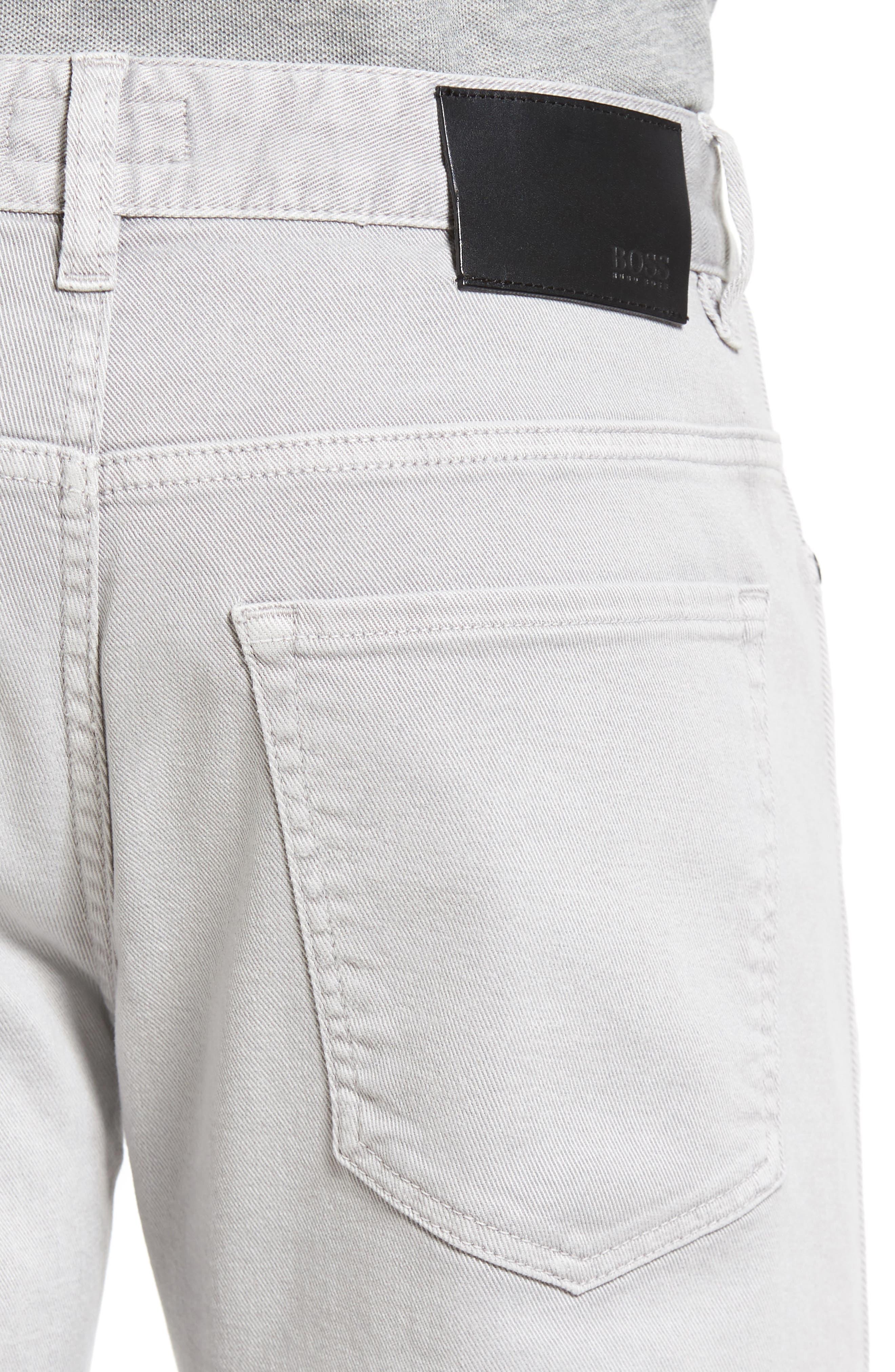 Alternate Image 4  - BOSS Delaware Grey Slim Fit Jeans