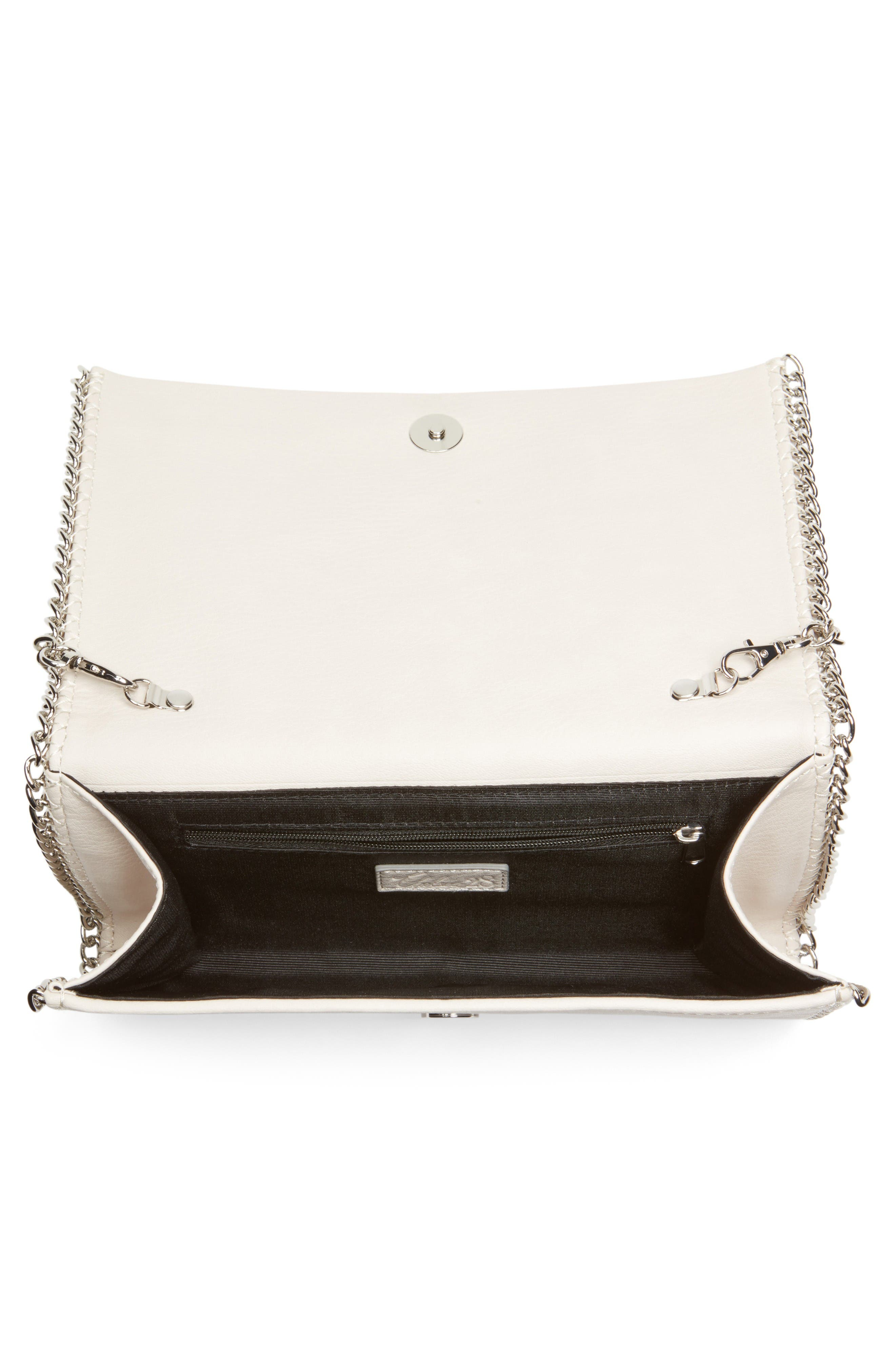 Alternate Image 4  - Chelsea28 Embellished Faux Leather Convertible Clutch