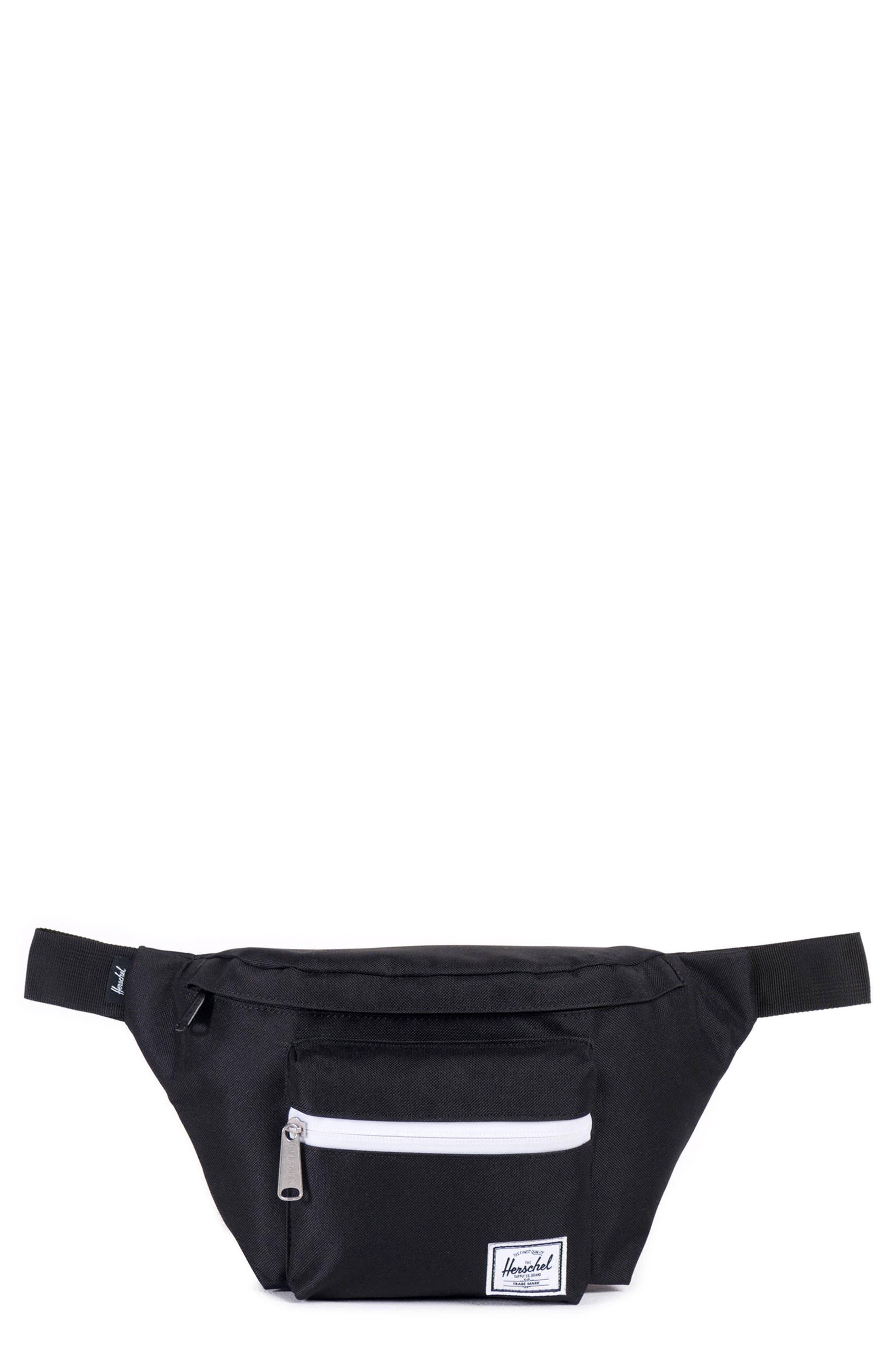 'Seventeen' Belt Bag,                             Main thumbnail 1, color,                             Black