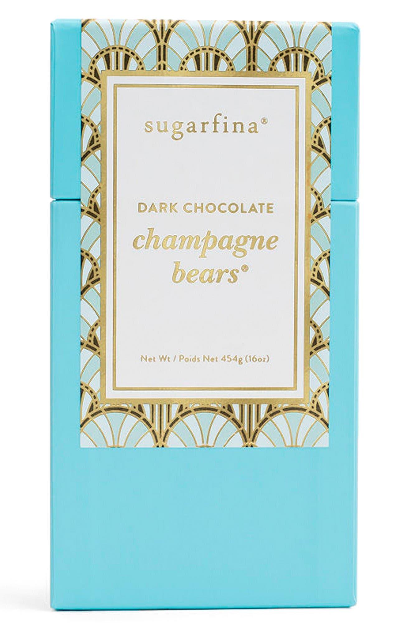 Dark Chocolate Champagne Bears<sup>®</sup>,                             Main thumbnail 1, color,                             Blue