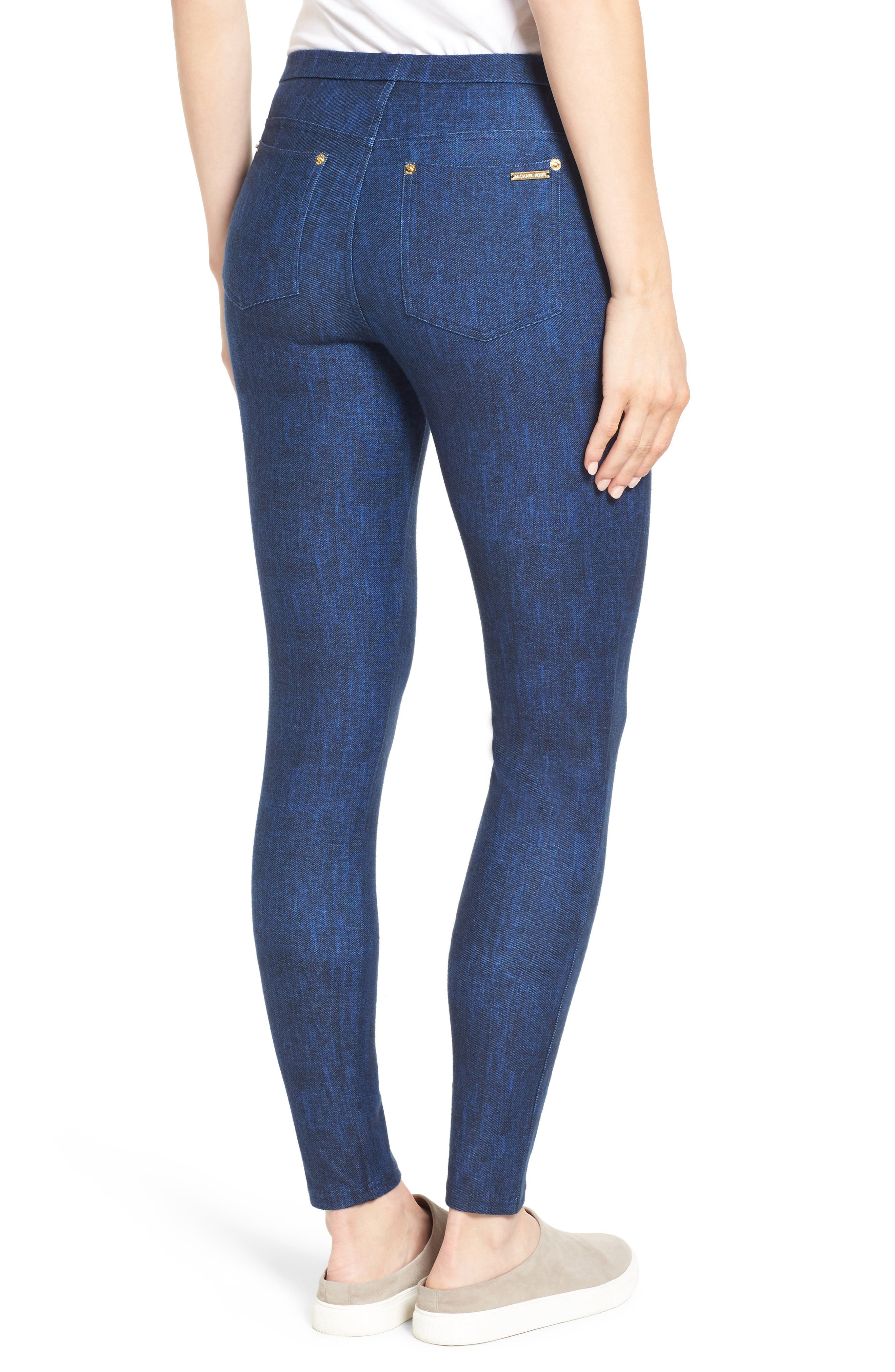 Alternate Image 2  - Michael Kors Denim Leggings