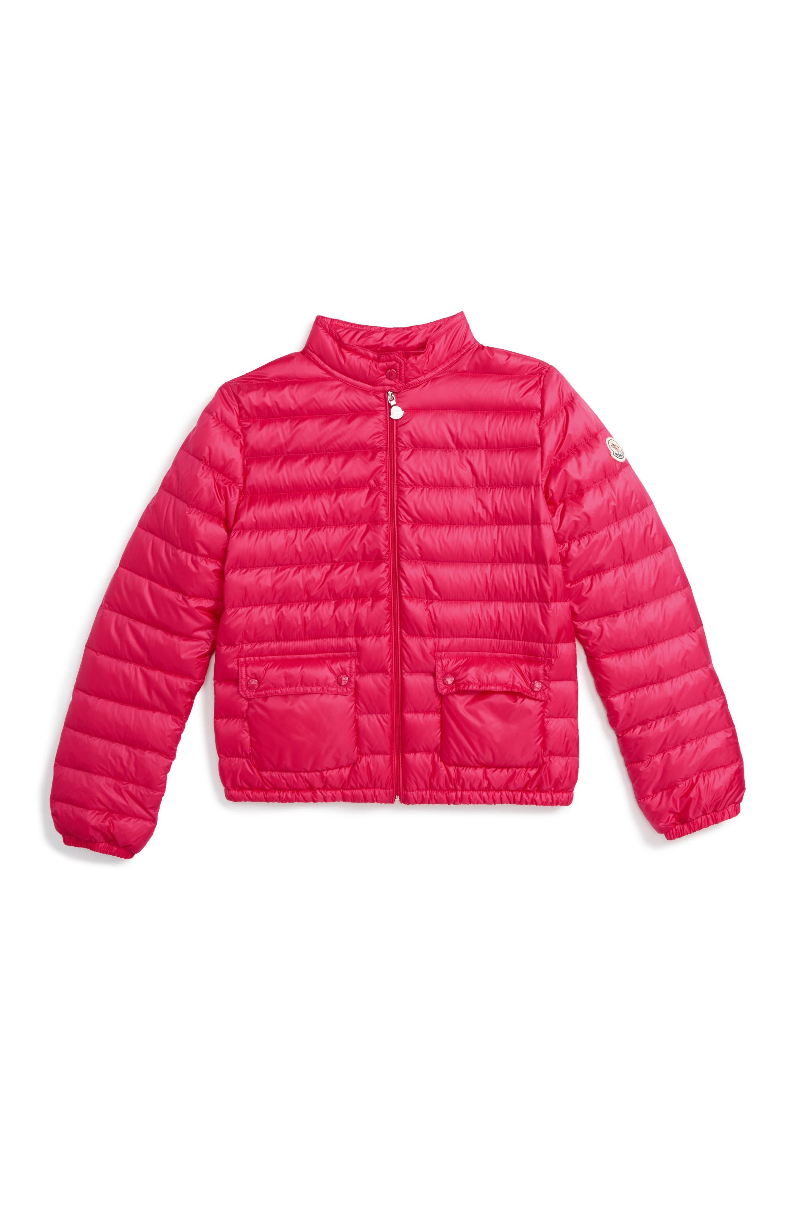 Lans Water Resistant Down Jacket,                             Main thumbnail 1, color,                             Fuchsia