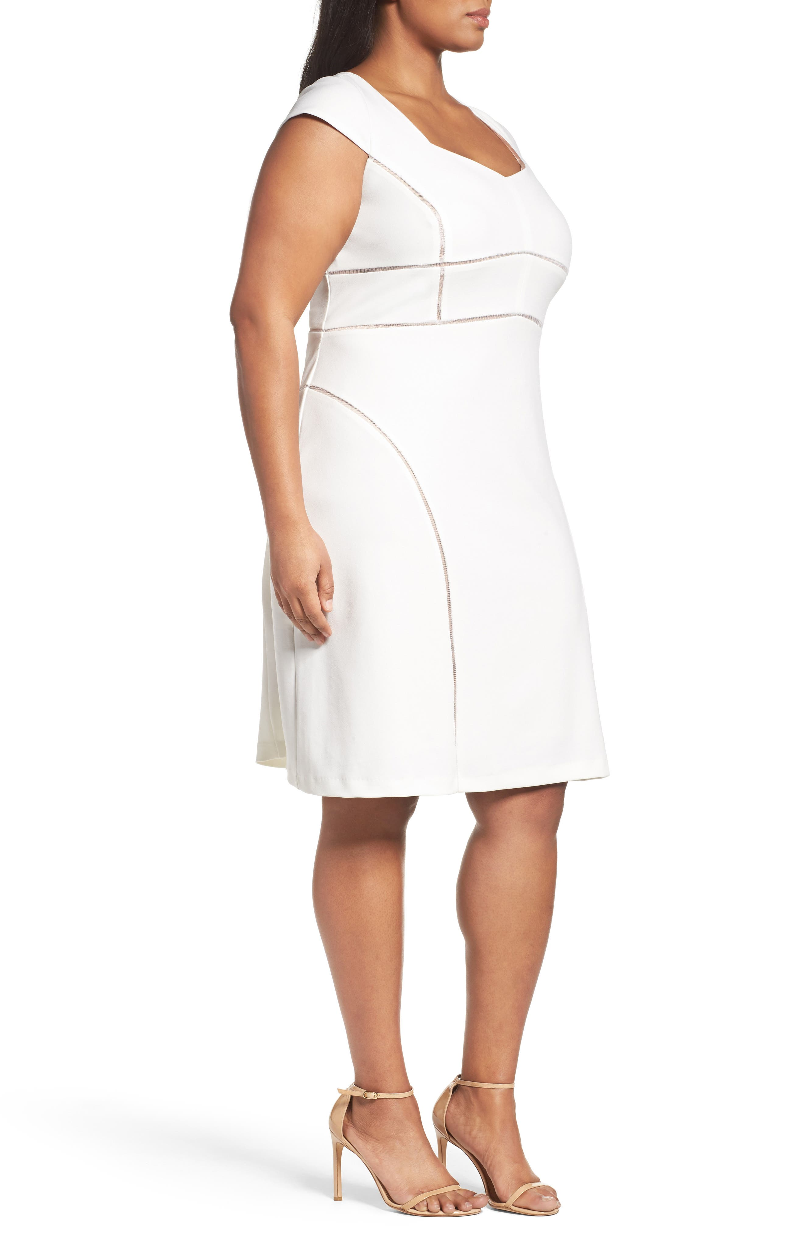 Alternate Image 3  - Adrianna Papell Stretch Crepe Sheath Dress (Plus Size)