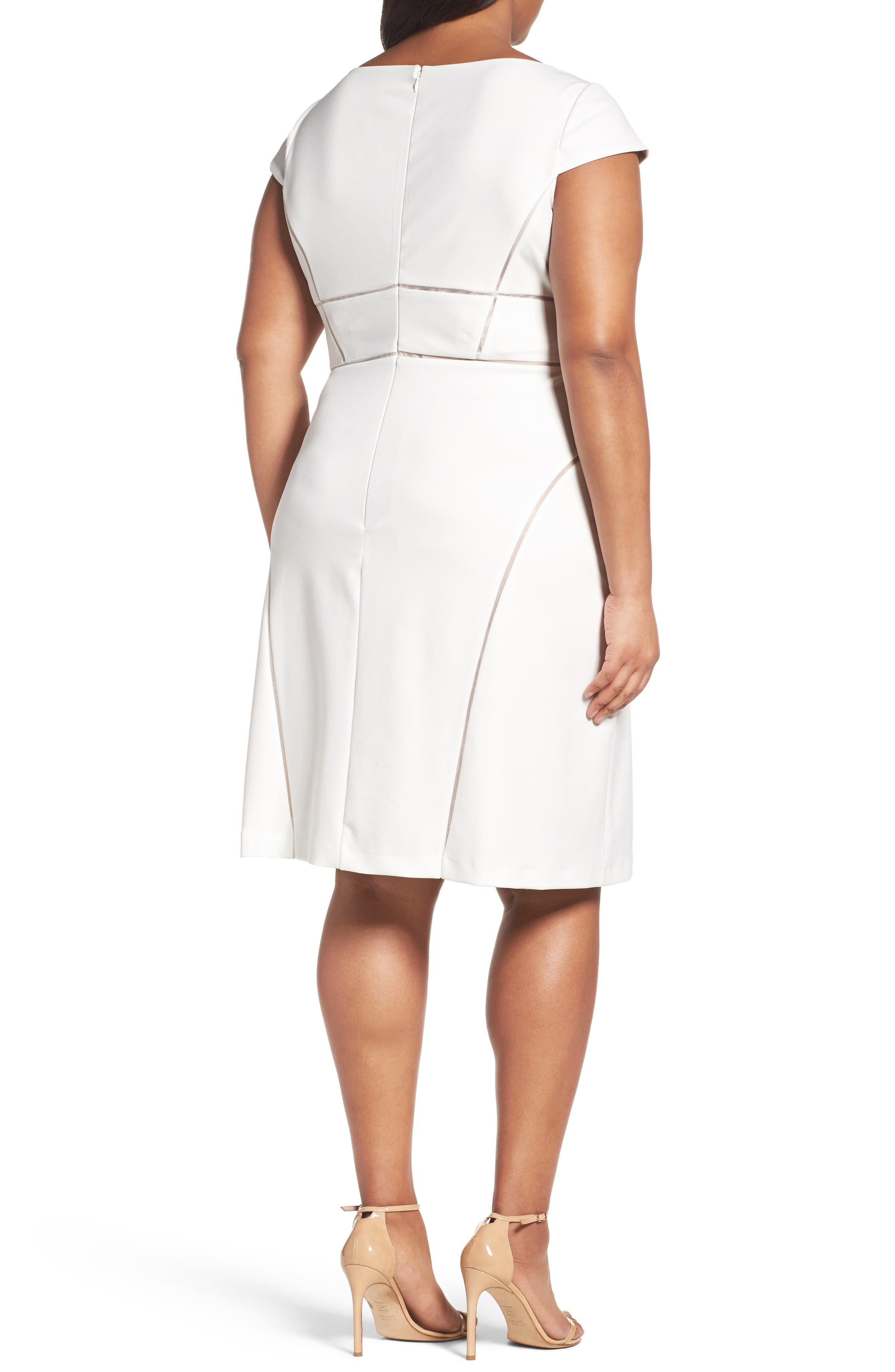 Alternate Image 2  - Adrianna Papell Stretch Crepe Sheath Dress (Plus Size)