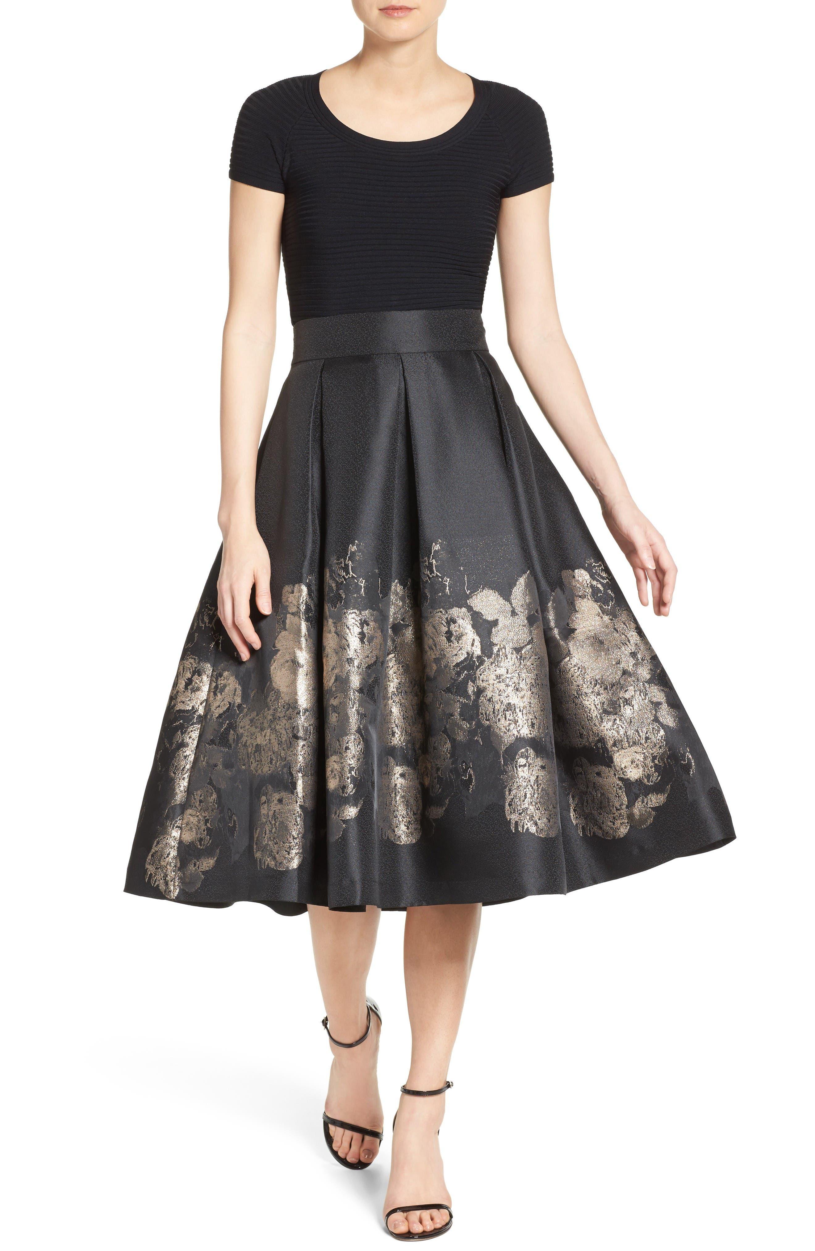 Alternate Image 2  - Eliza J Pleated Mikado Midi Skirt