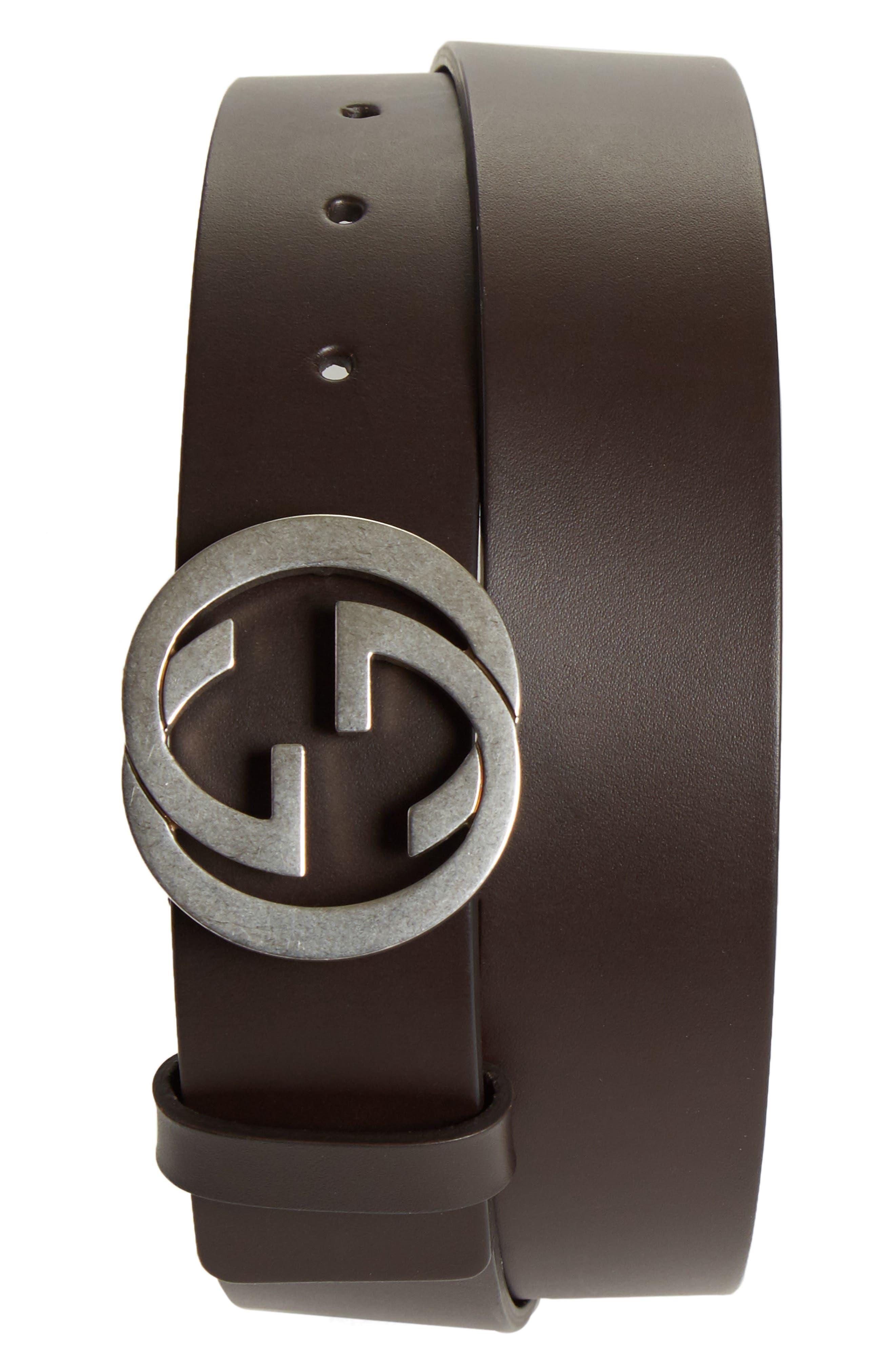 Gucci Logo Buckle Leather Belt