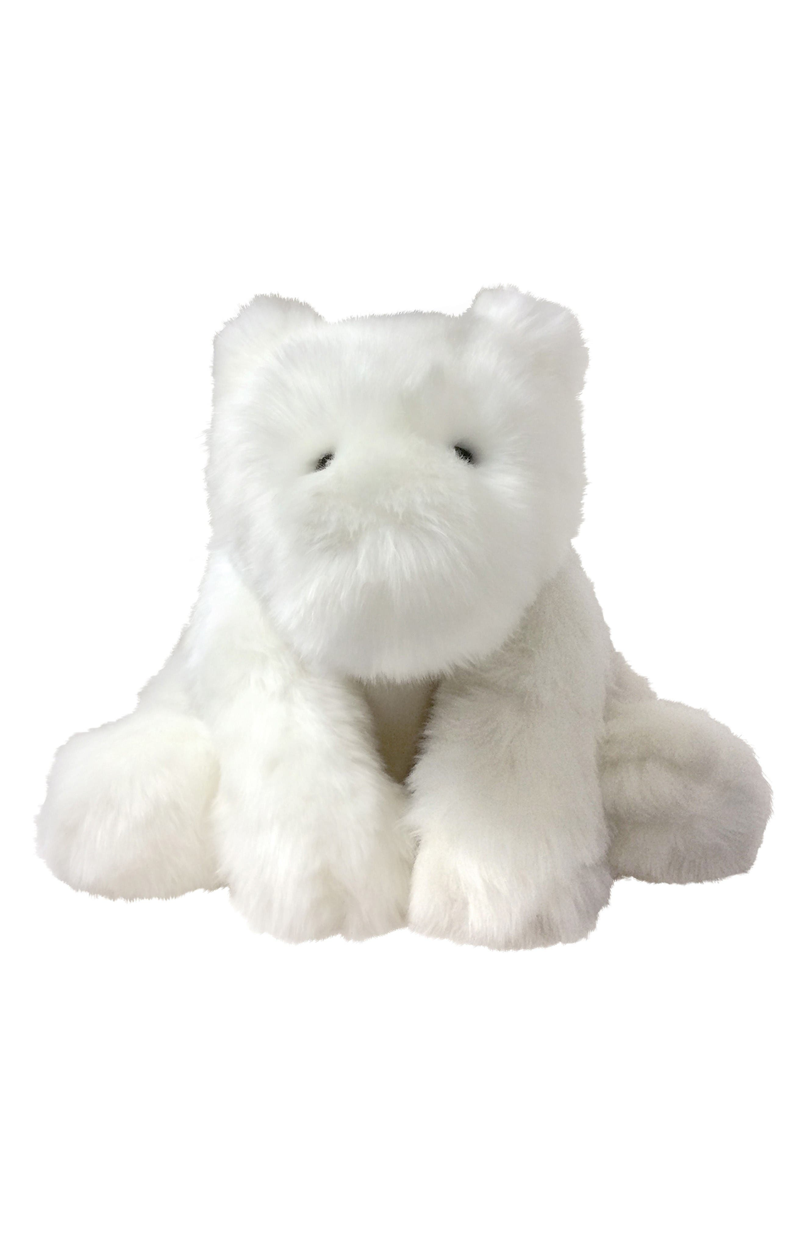 Luxe Ivy Bear Stuffed Animal,                             Main thumbnail 1, color,                             White