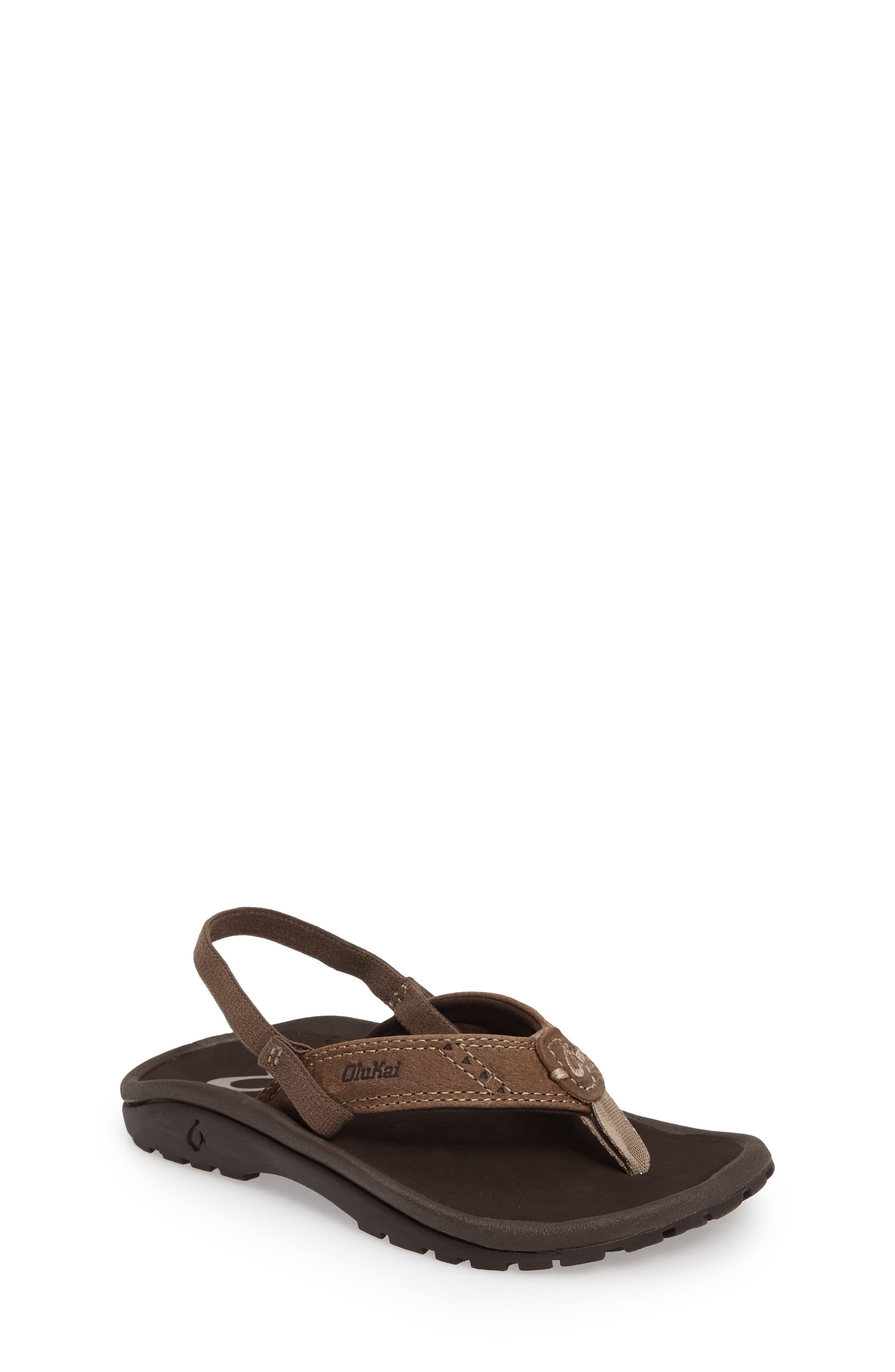 OluKai Nui Leather Sandal (Toddler)