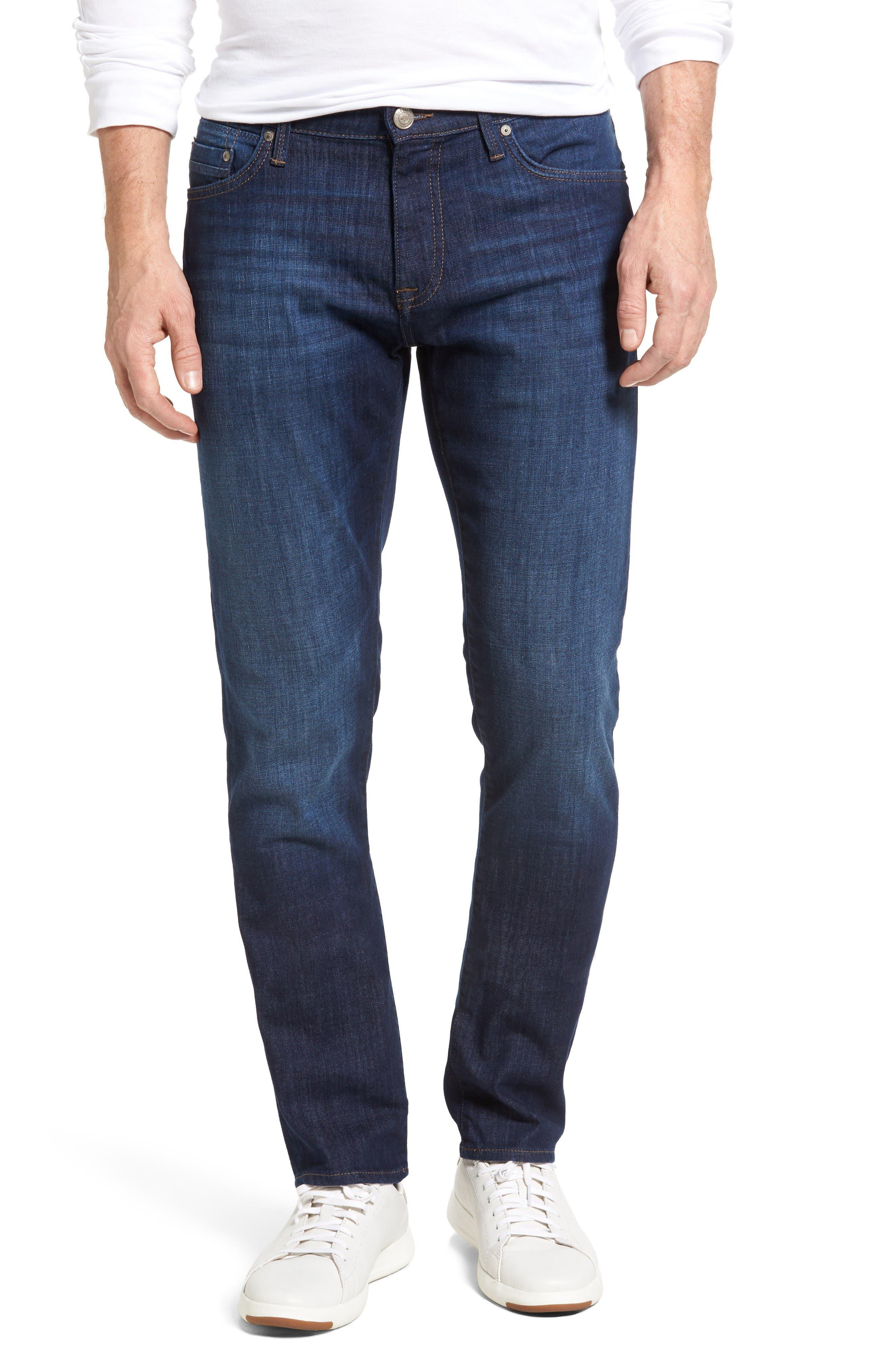 Marcus Slim Straight Leg Jeans,                         Main,                         color, Indigo Portland