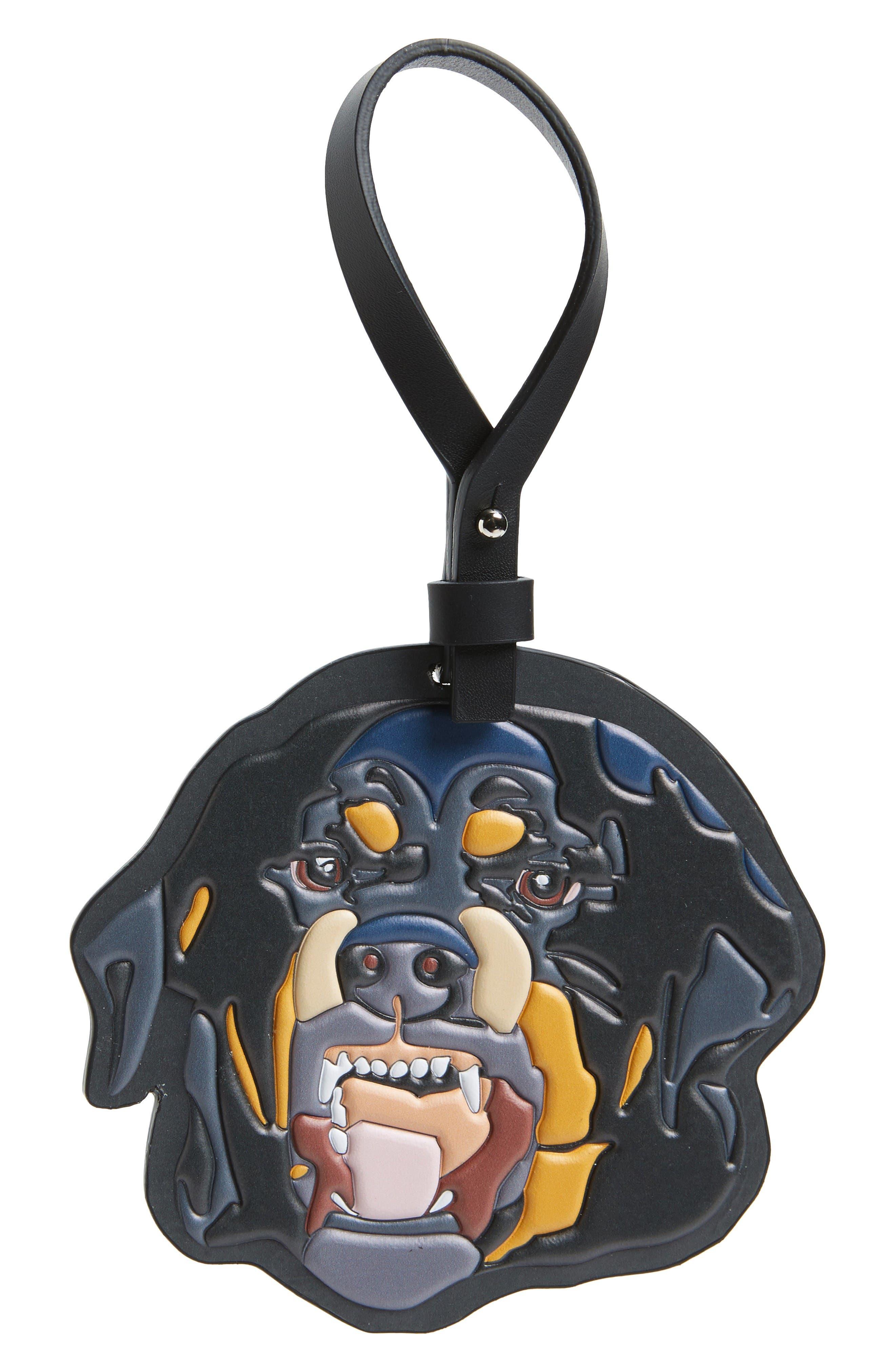 Rottweiler Key Ring,                             Main thumbnail 1, color,                             Black