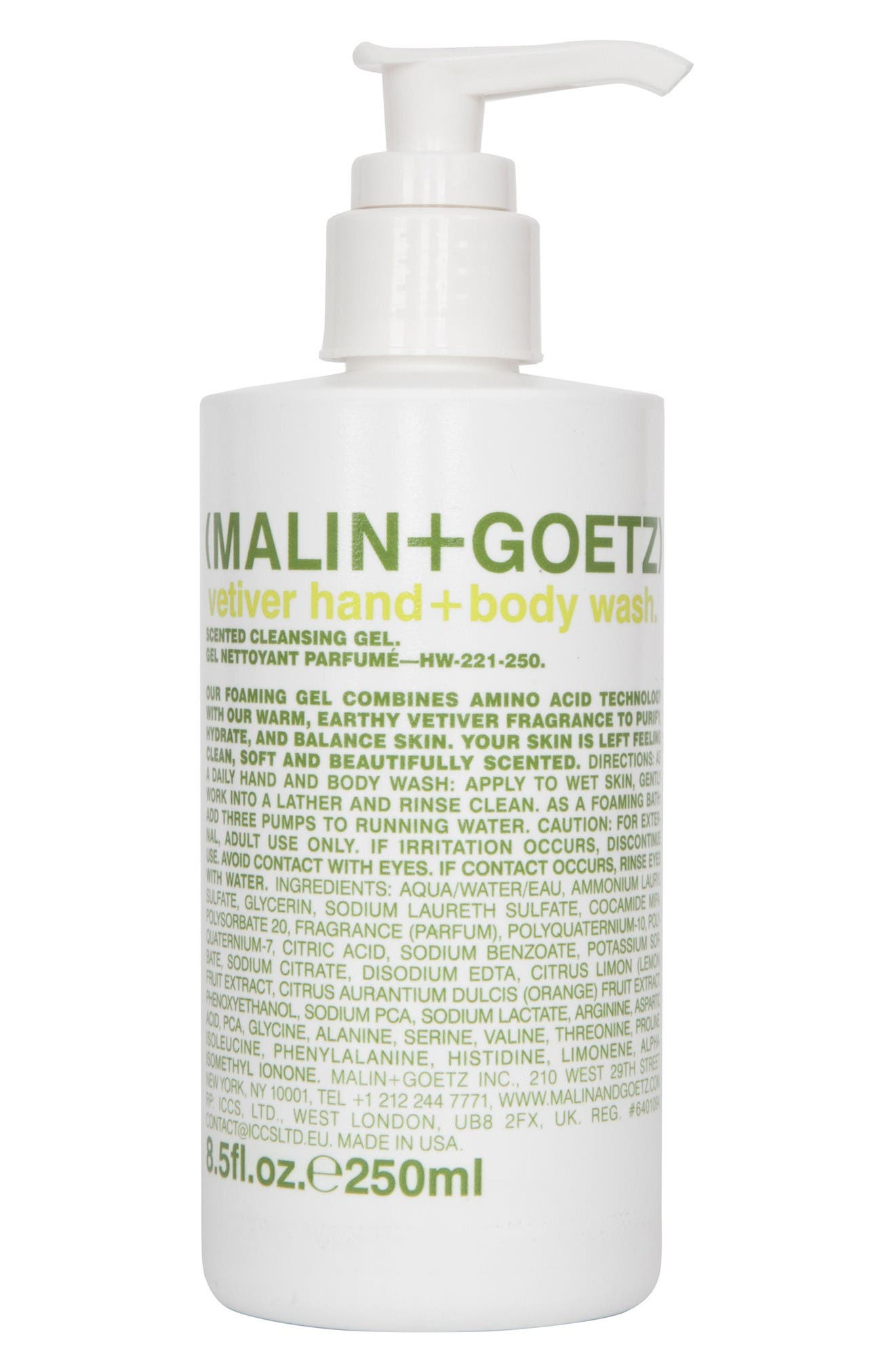 Main Image - SPACE.NK.apothecary Malin + Goetz Vetiver Hand & Body Wash with Pump