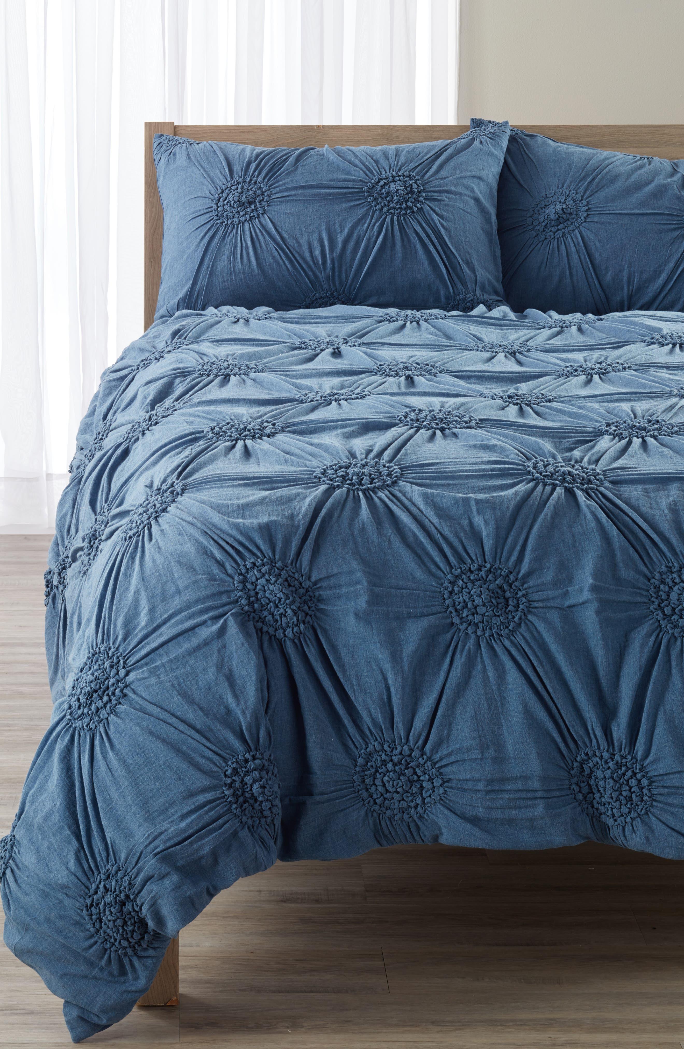 'Chloe' Duvet Cover,                         Main,                         color, Blue Moonlight Heather