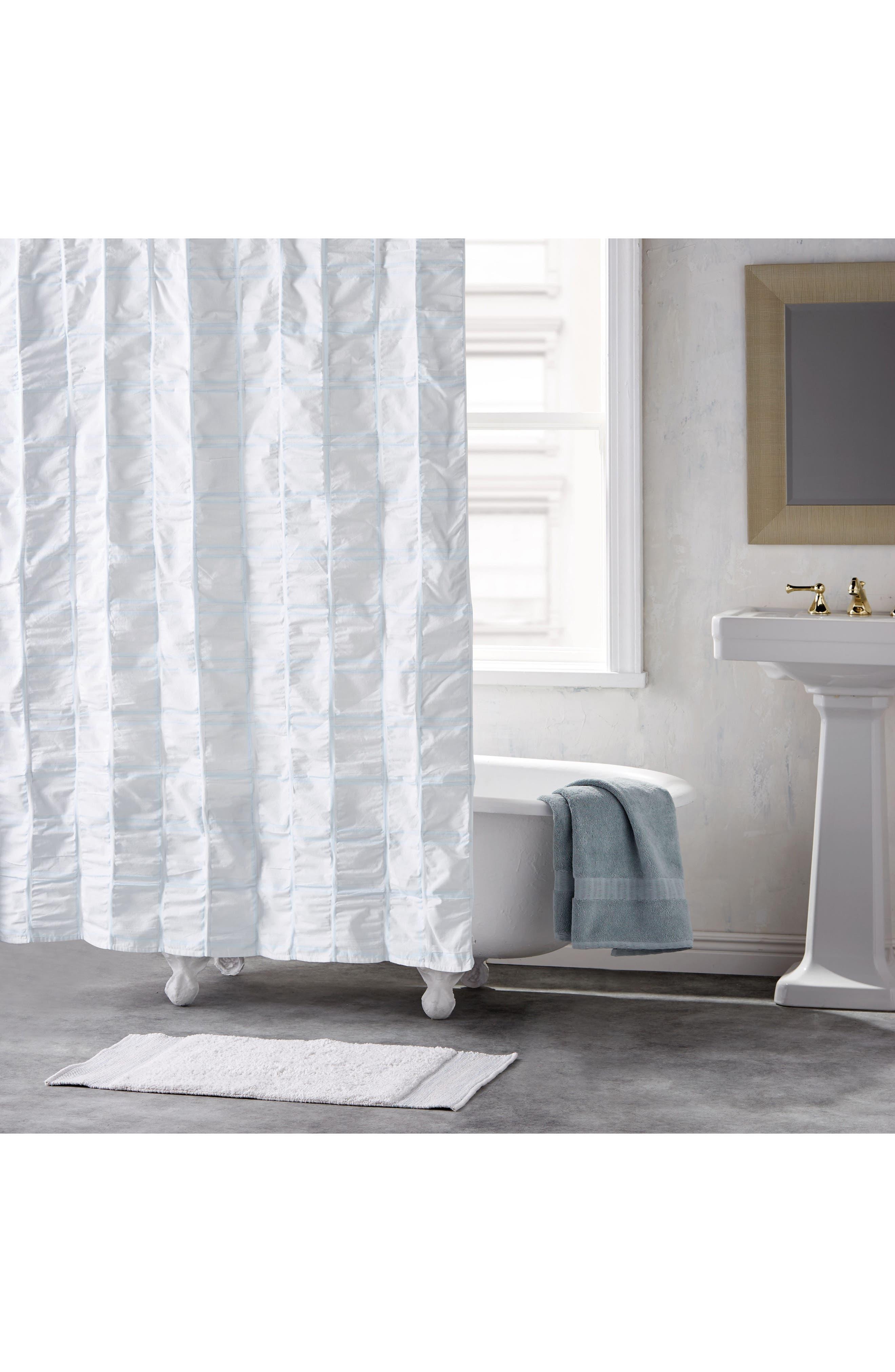 DKNY Check Please Shower Curtain