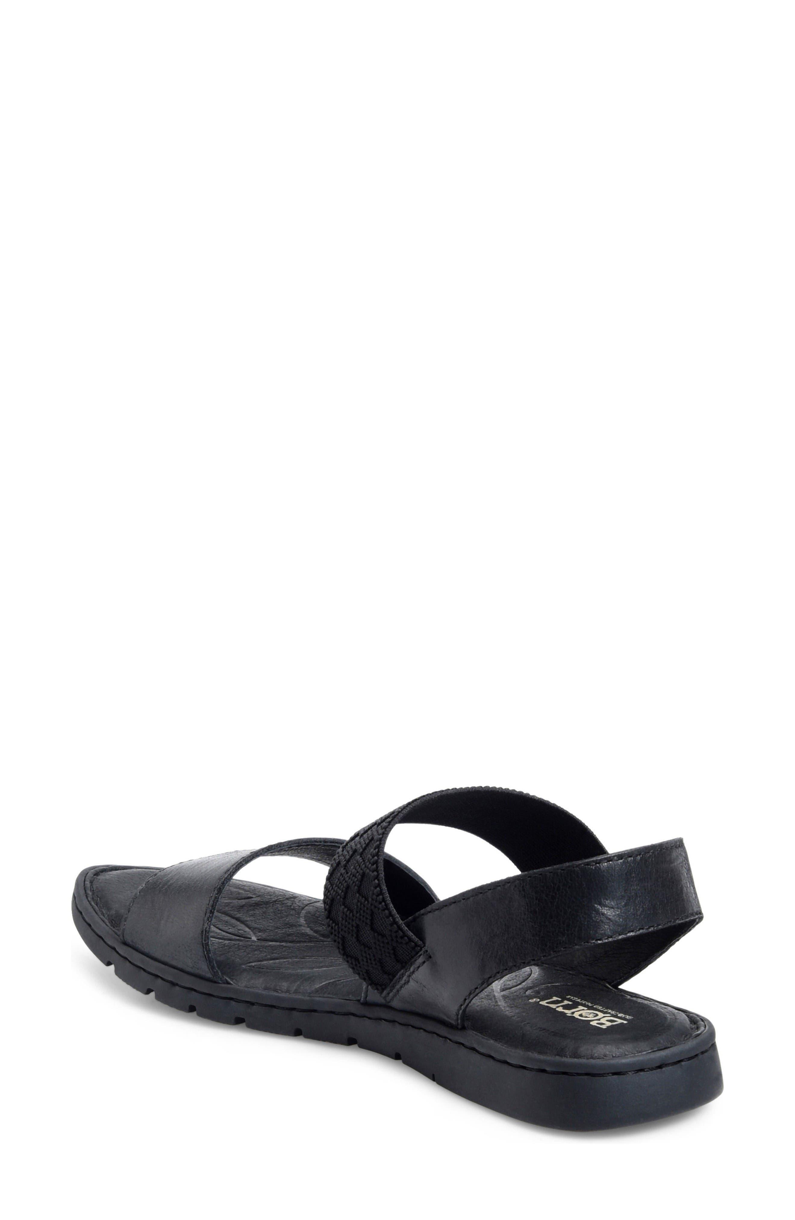 Parsons Sandal,                             Alternate thumbnail 2, color,                             Black Full Grain Leather