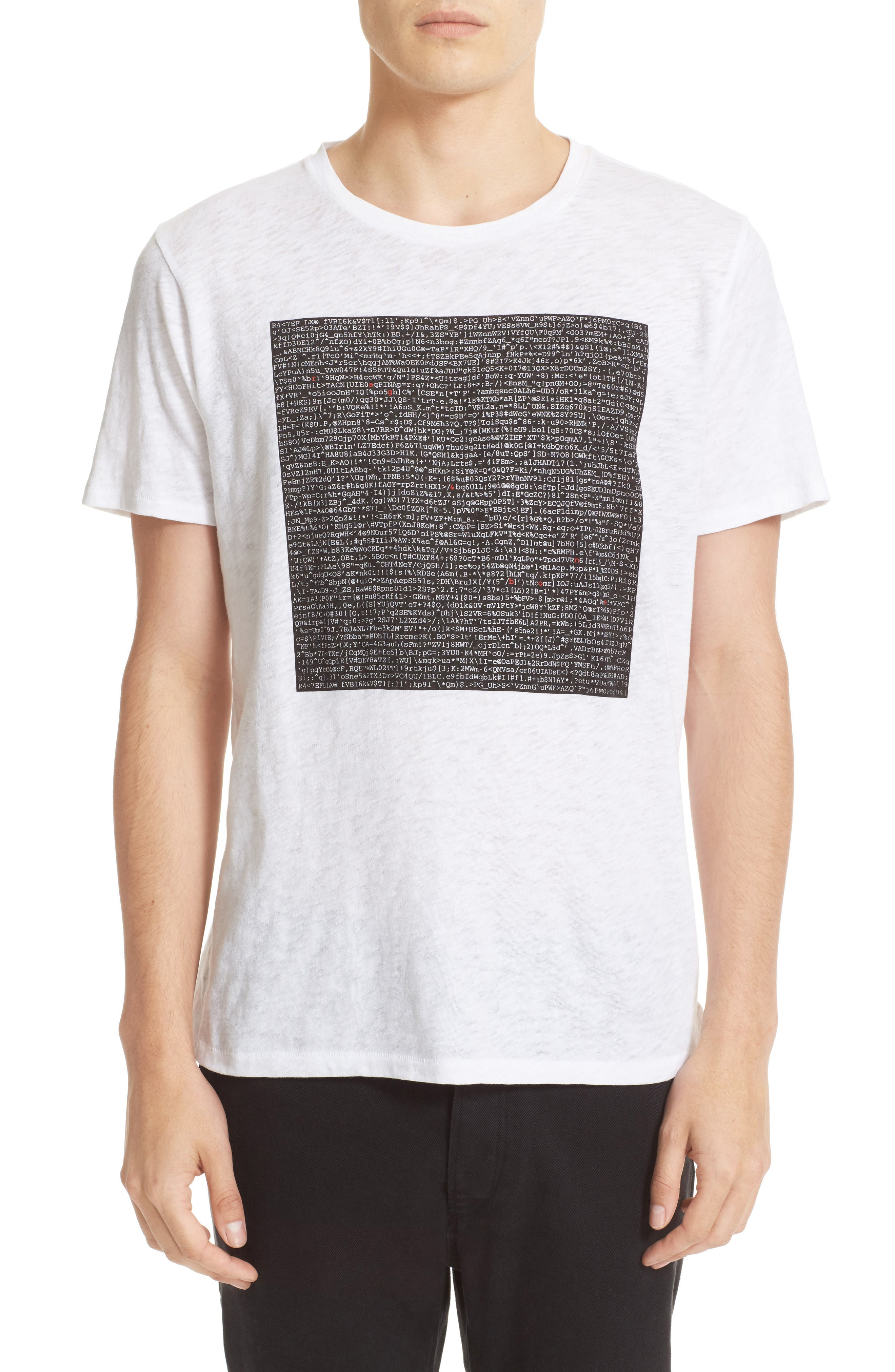 Graphic Code T-Shirt,                         Main,                         color, White