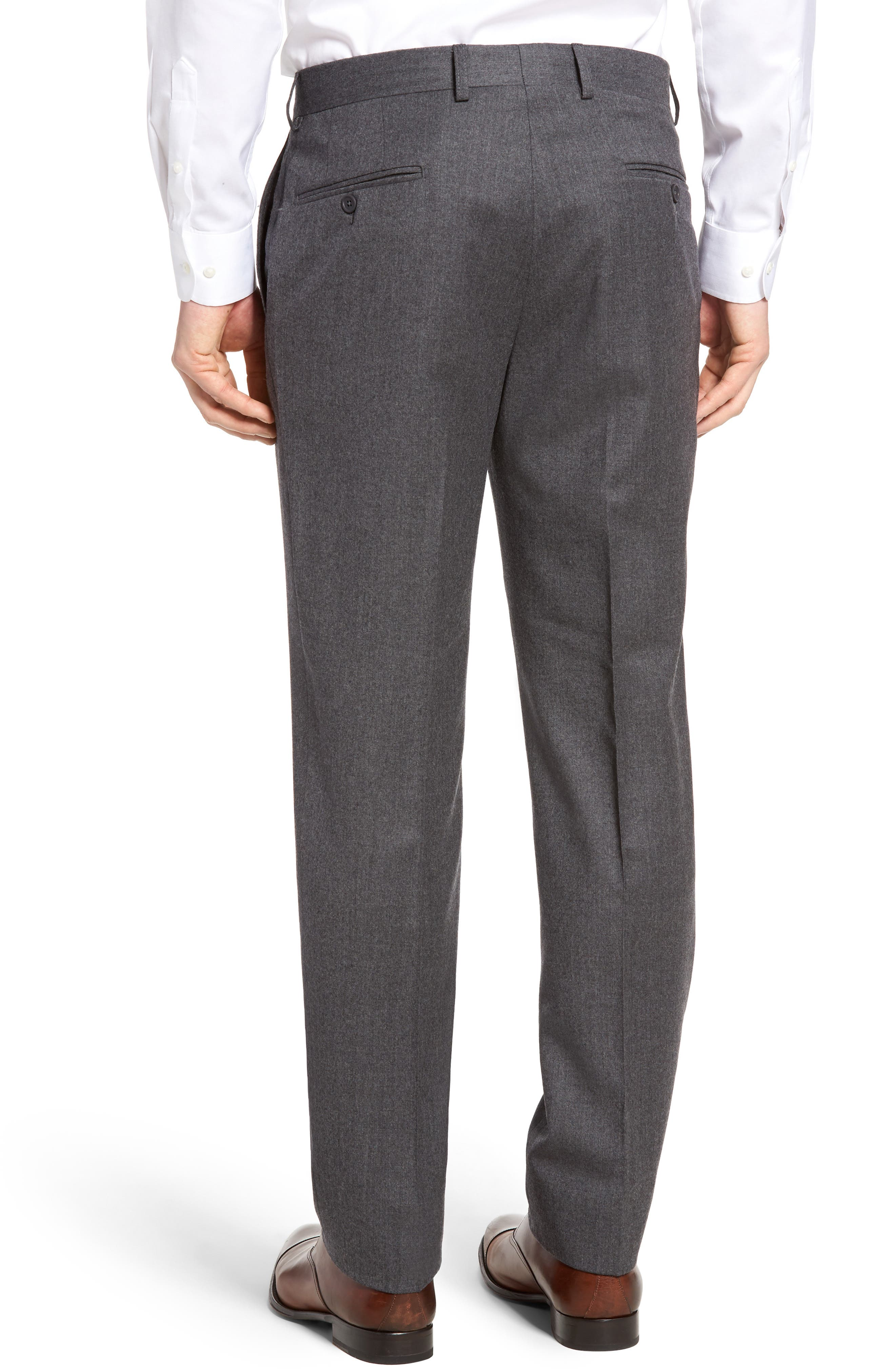 Alternate Image 2  - Bensol Flannel Wool Trousers