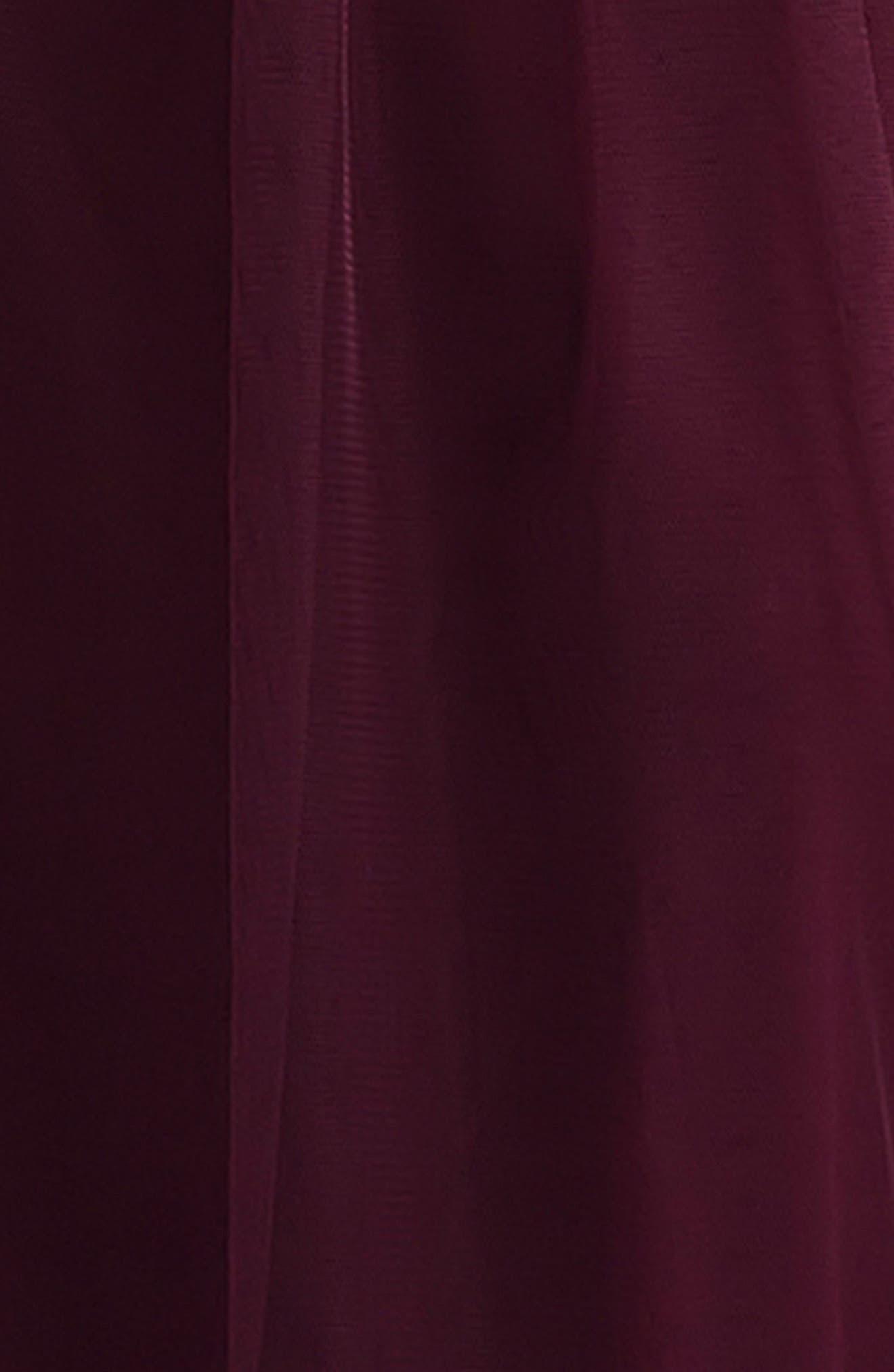 Alternate Image 4  - #Levkoff Crisscross Strap English Net A-Line Gown