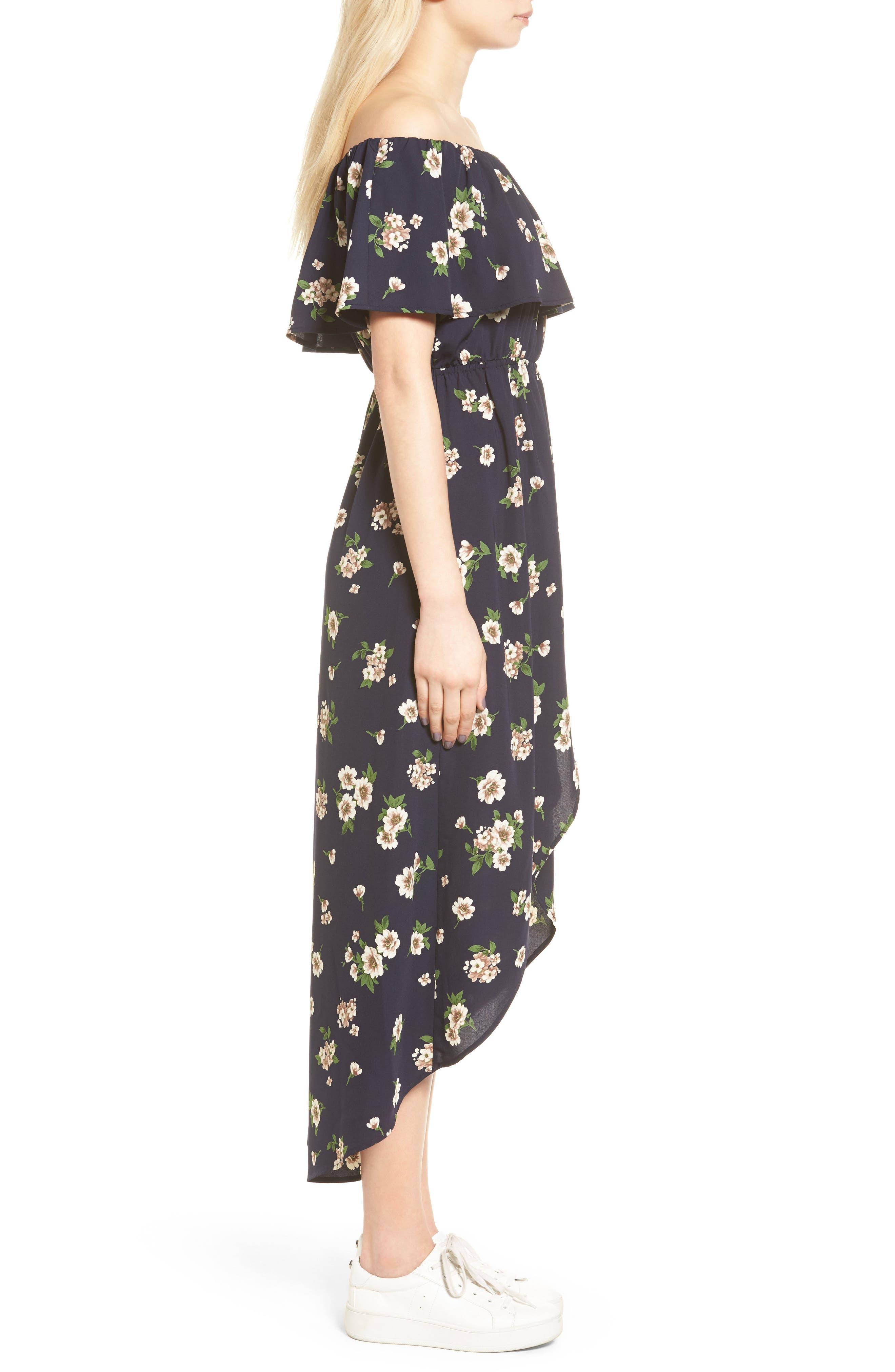 Alternate Image 3  - Soprano Floral Print Off the Shoulder Dress