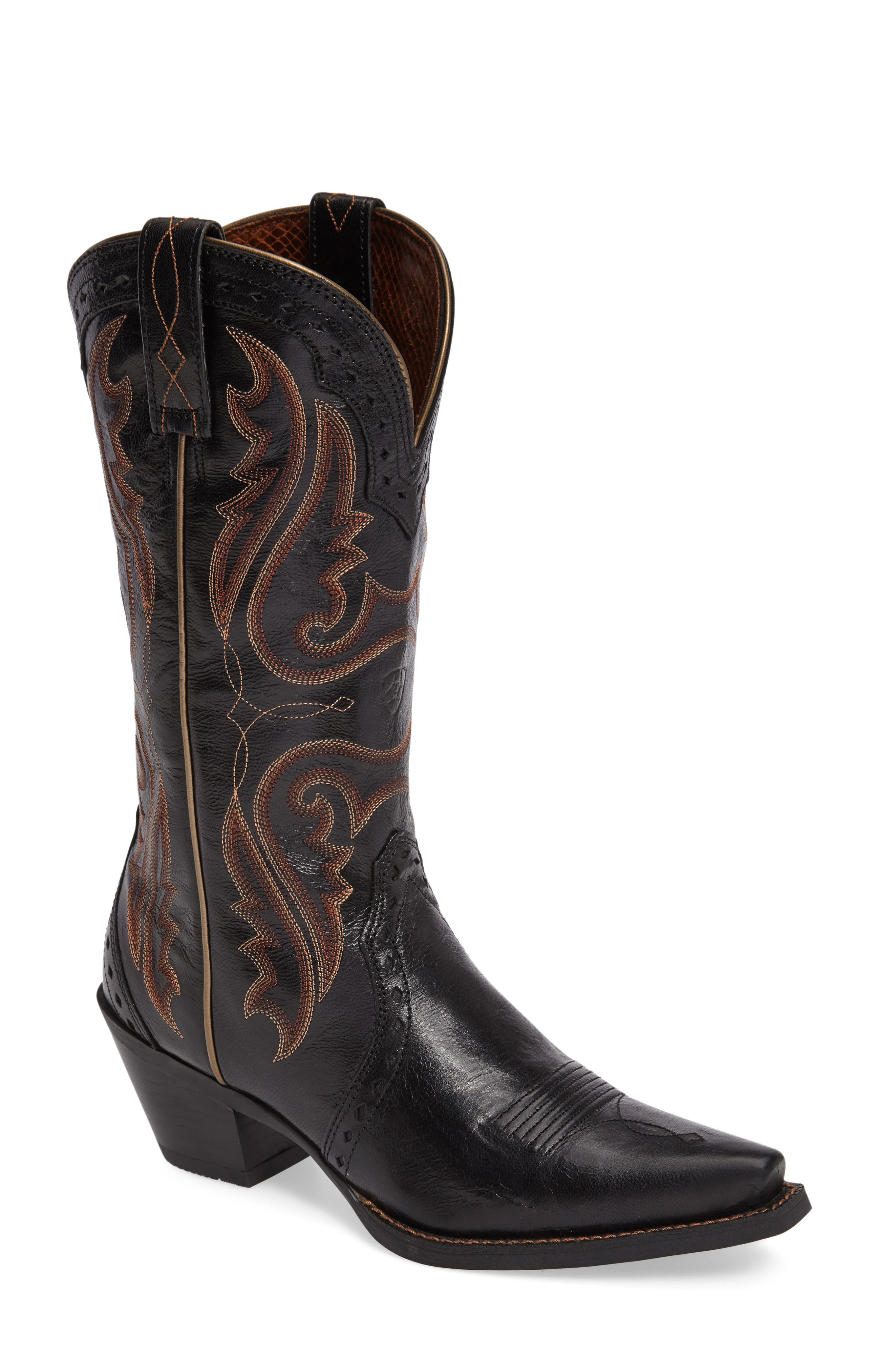 'Western Heritage X Toe' Boot,                             Main thumbnail 1, color,                             Old Black Leather