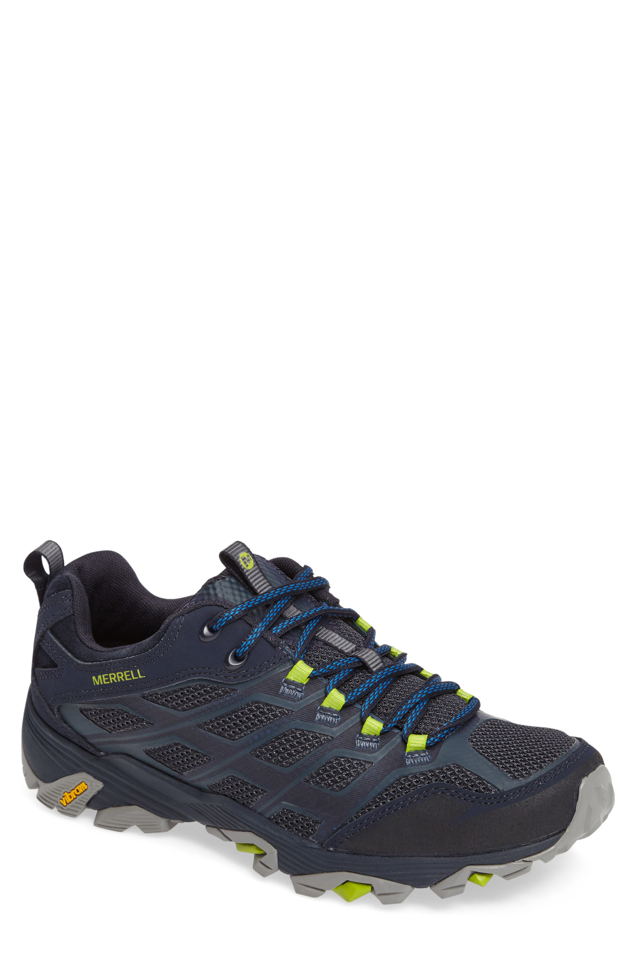 Moab FST Hiking Shoe,                         Main,                         color, Navy