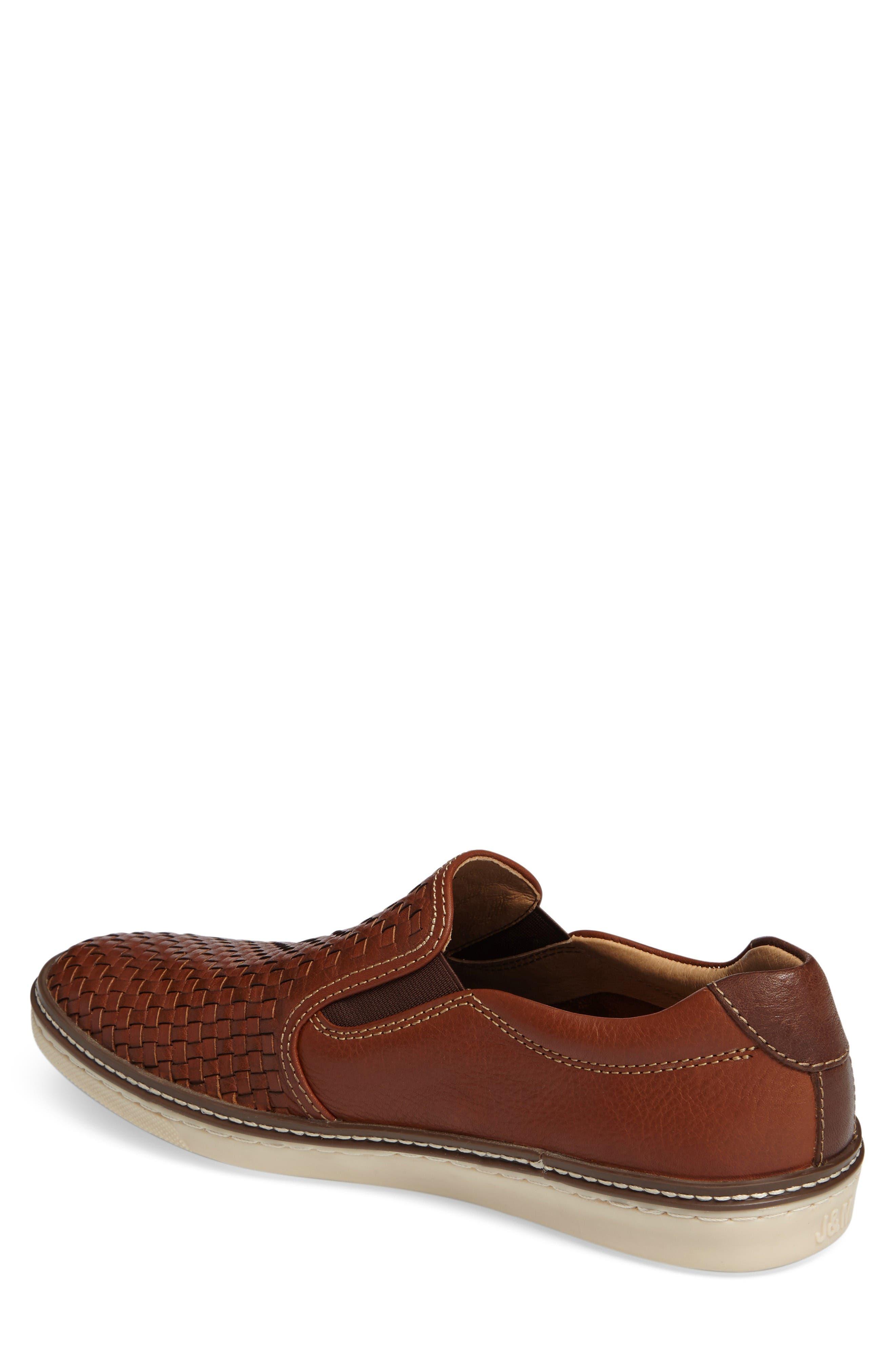 McGuffey Woven Slip-On Sneaker,                             Alternate thumbnail 2, color,                             Tan Leather