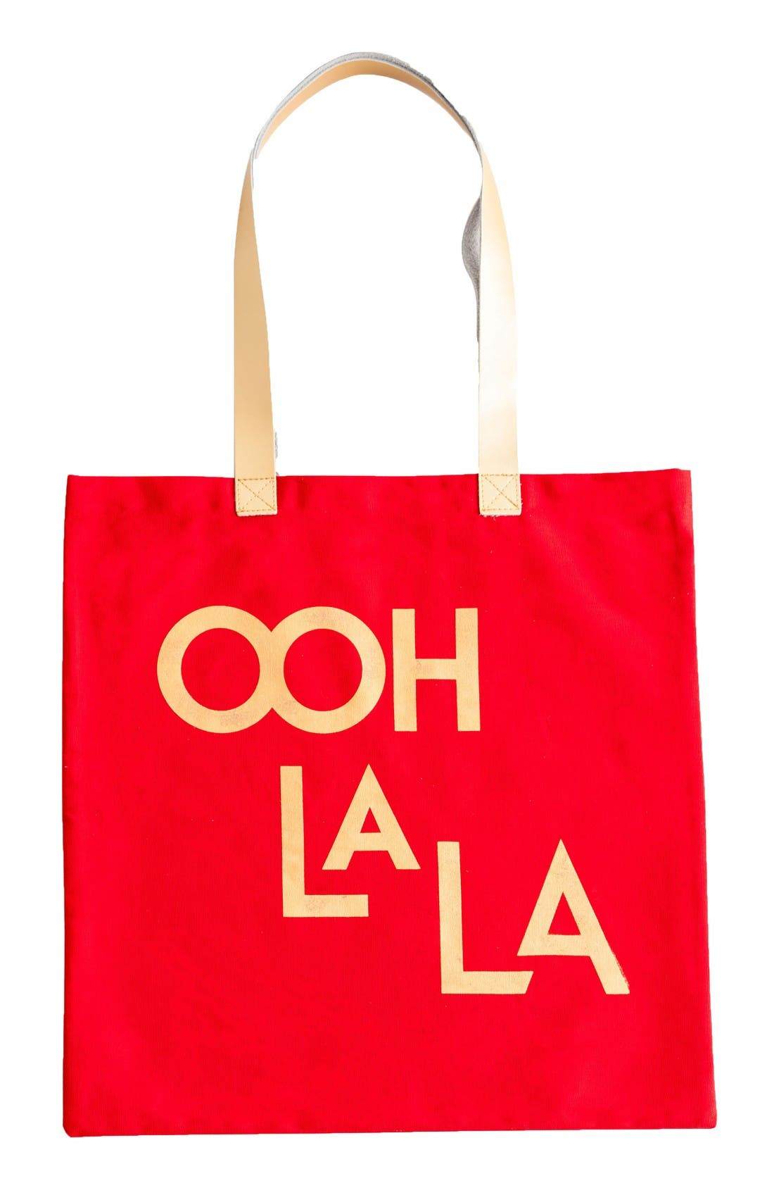 Jazz Age Ooh La La Canvas Tote,                             Main thumbnail 1, color,                             Red