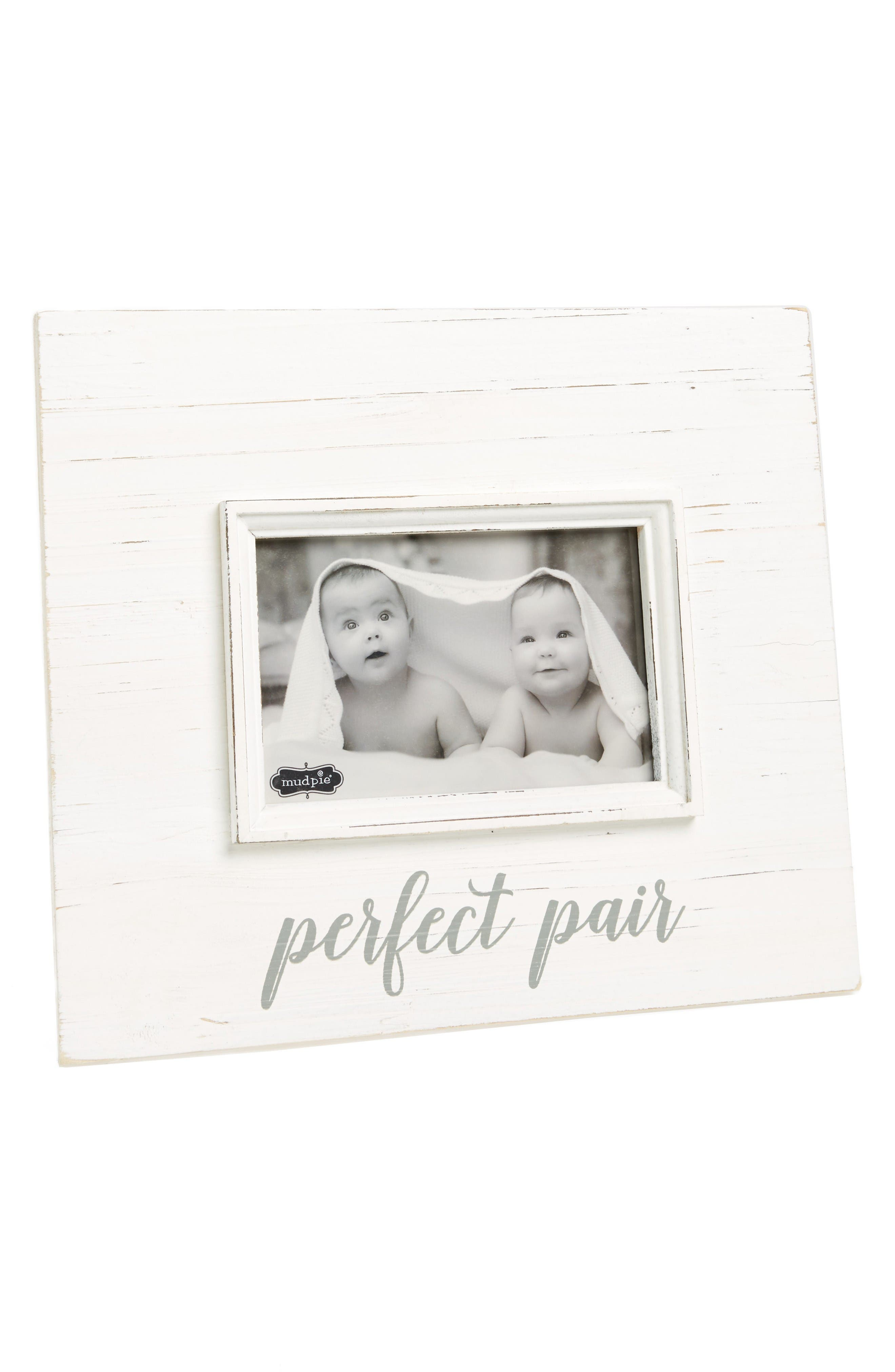 Perfect Pair Picture Frame,                             Main thumbnail 1, color,                             White
