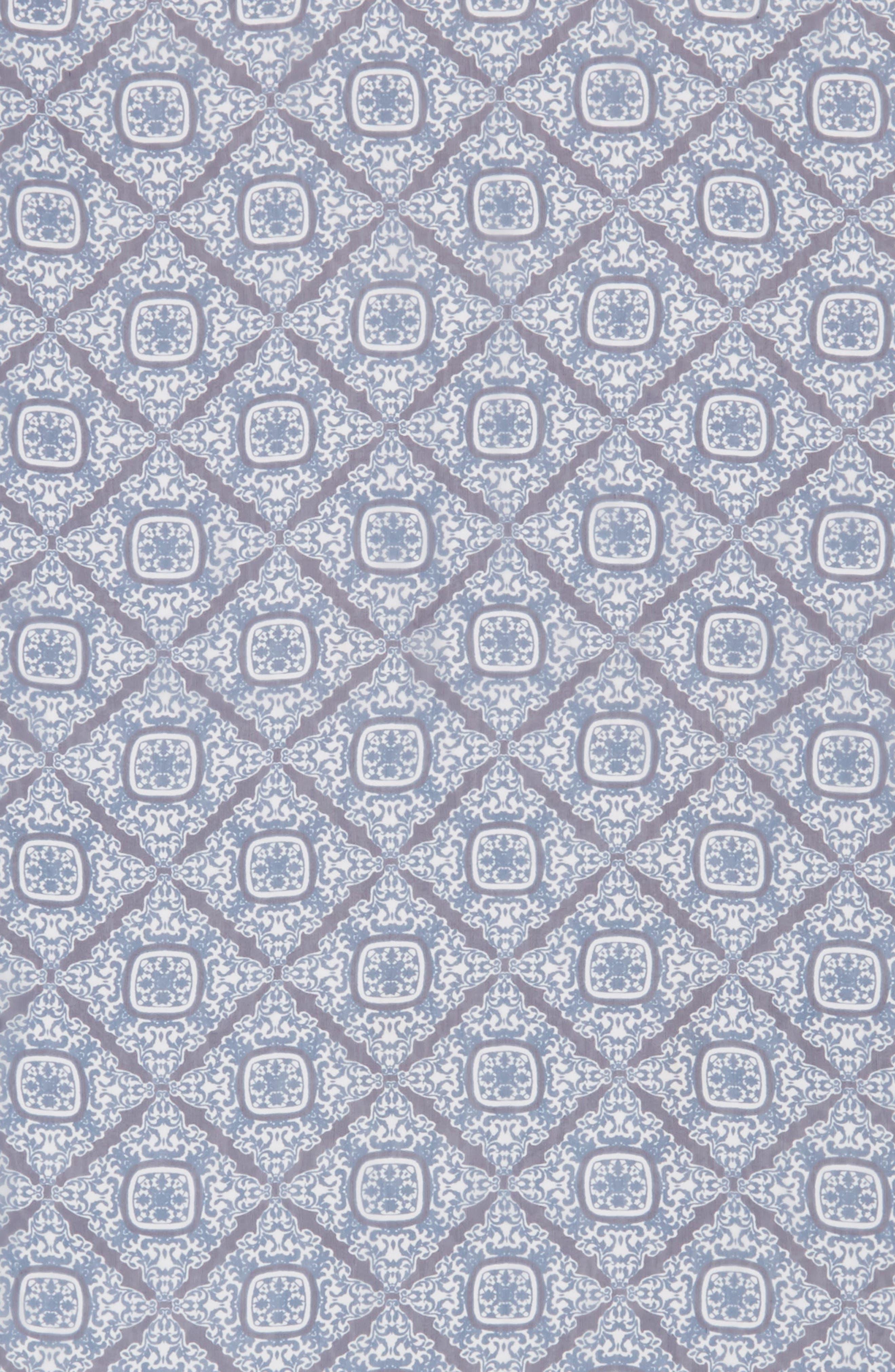 Jaipur Border Silk Georgette Scarf,                             Alternate thumbnail 2, color,                             Navy Multi