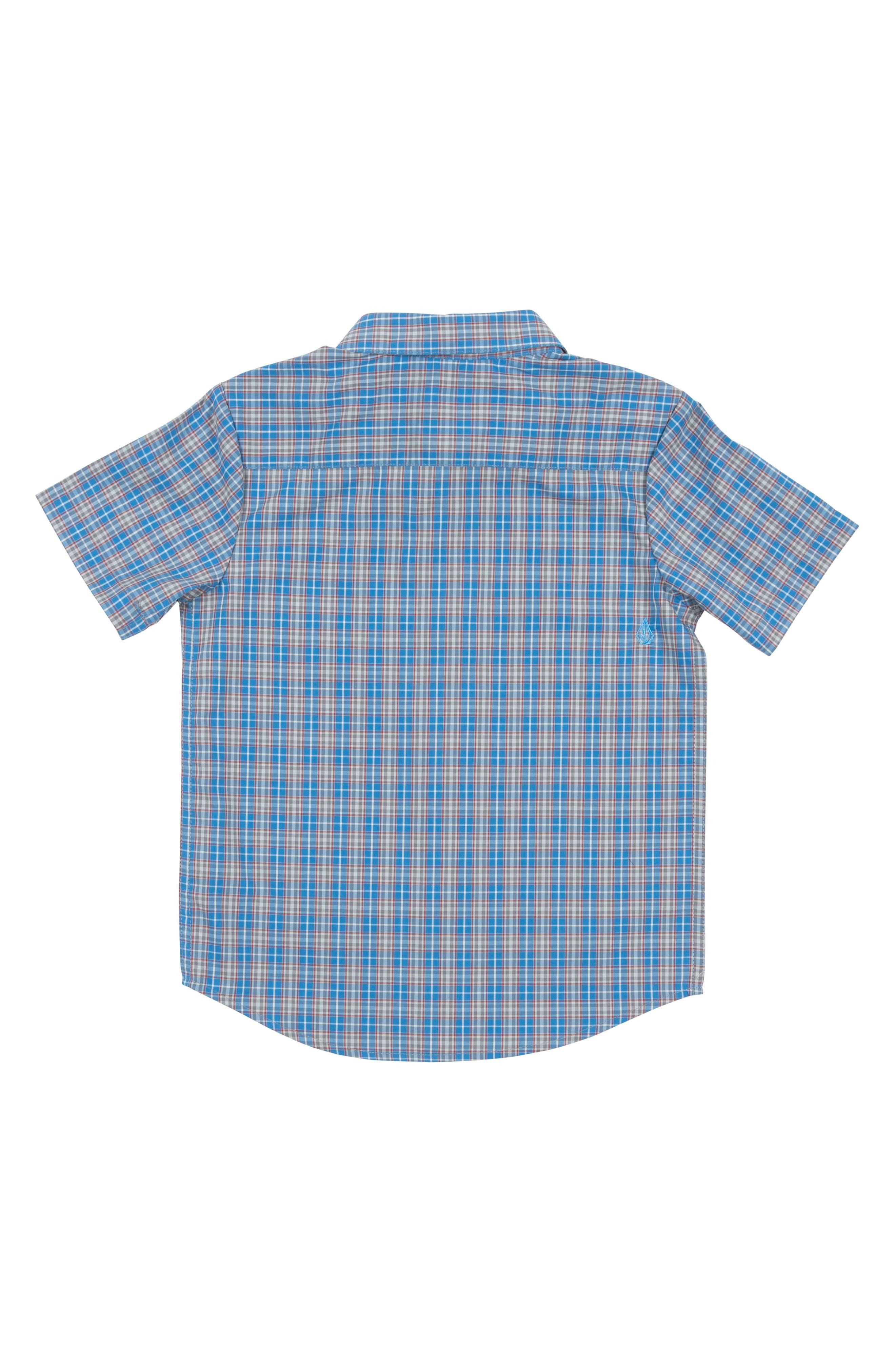 Harper Plaid Woven Shirt,                             Alternate thumbnail 2, color,                             Mayan Blue