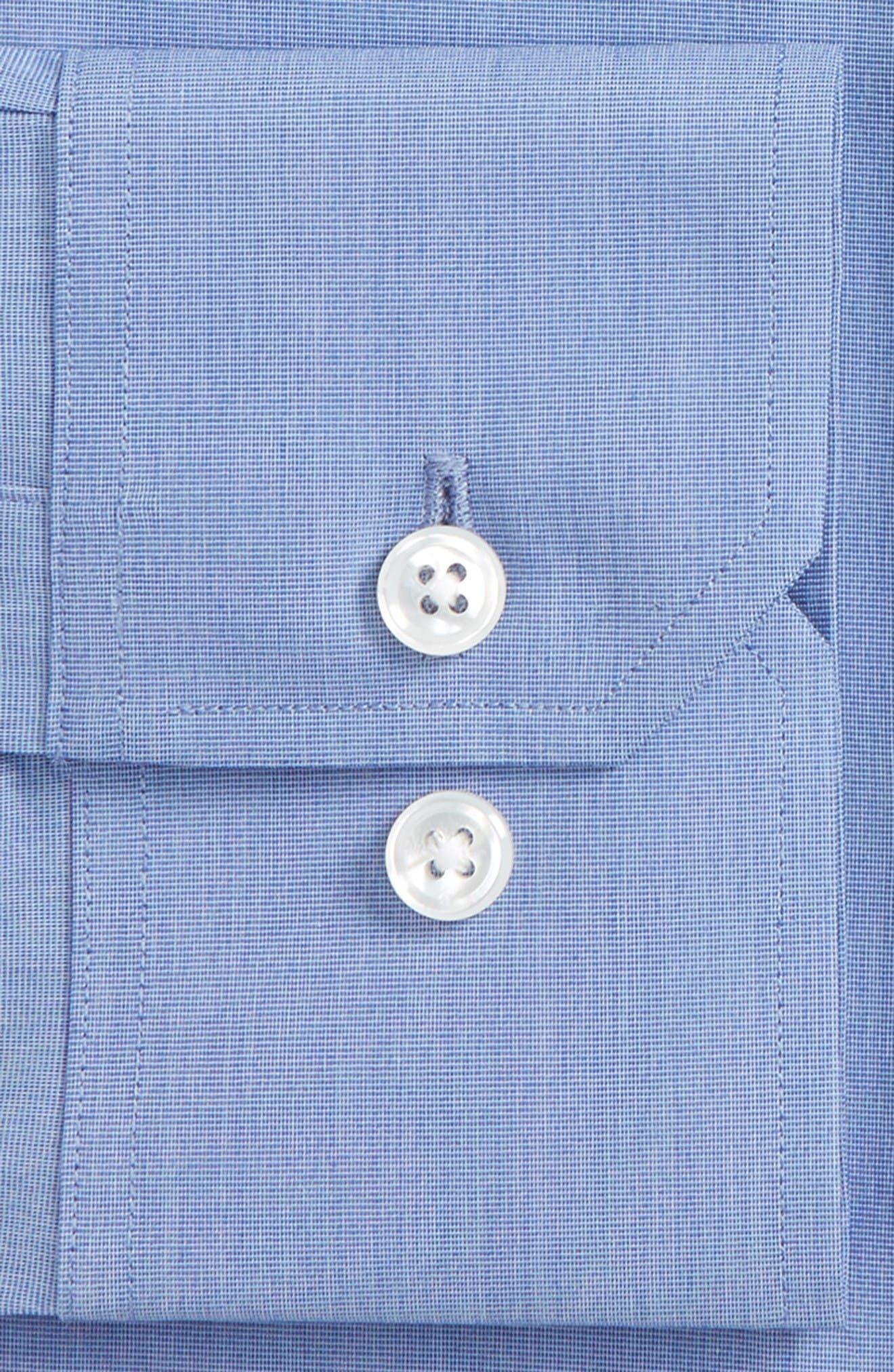 Jetsetter Slim Fit Solid Dress Shirt,                             Alternate thumbnail 2, color,                             Navy