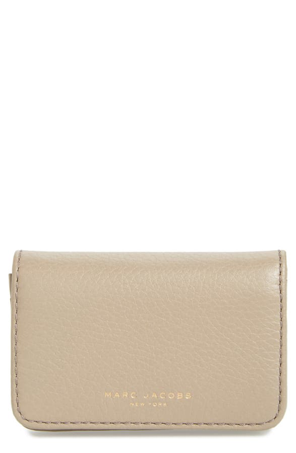 MARC JACOBS Recruit Leather Business Card Case | Nordstrom