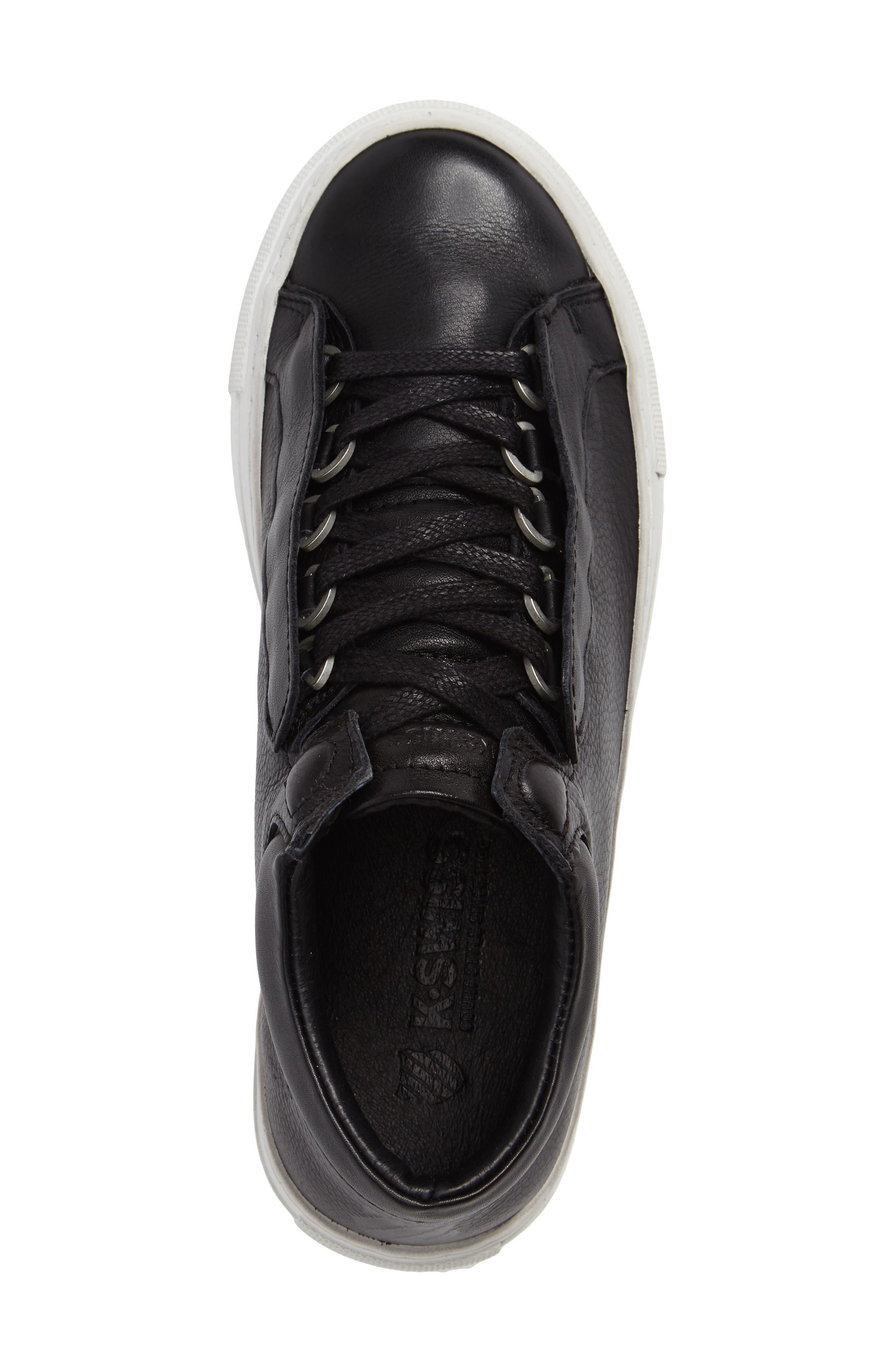 Novo Demi Sneaker,                             Alternate thumbnail 3, color,                             Black/ Off White