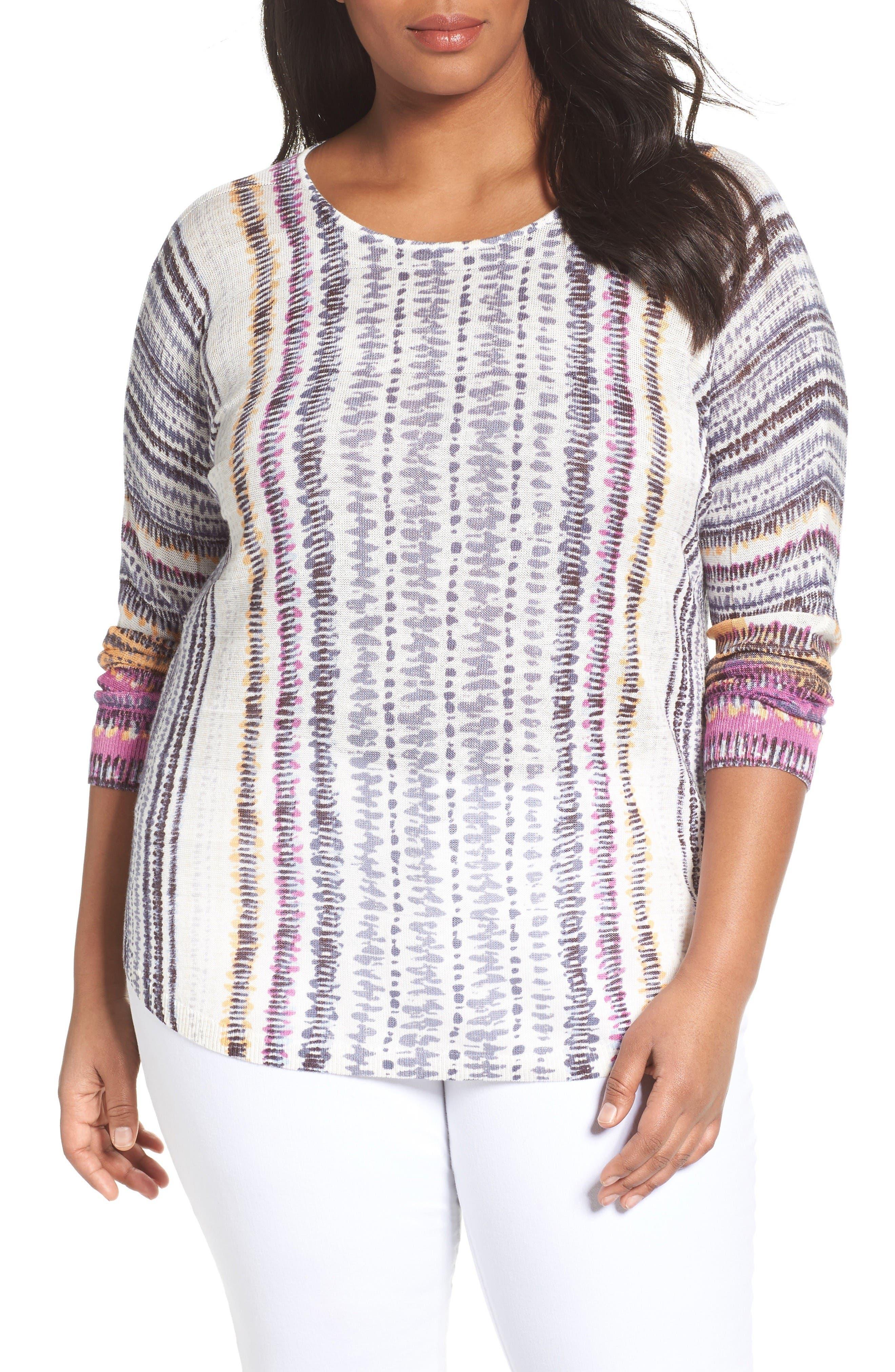 Bright Beat Sweater,                         Main,                         color, Blue Multi