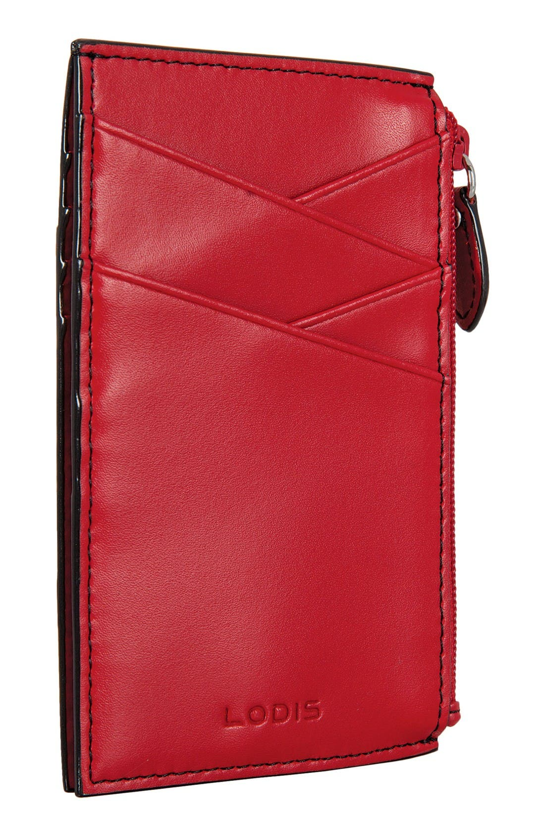 Lodis Audrey Ina Card Case,                             Alternate thumbnail 3, color,                             Red