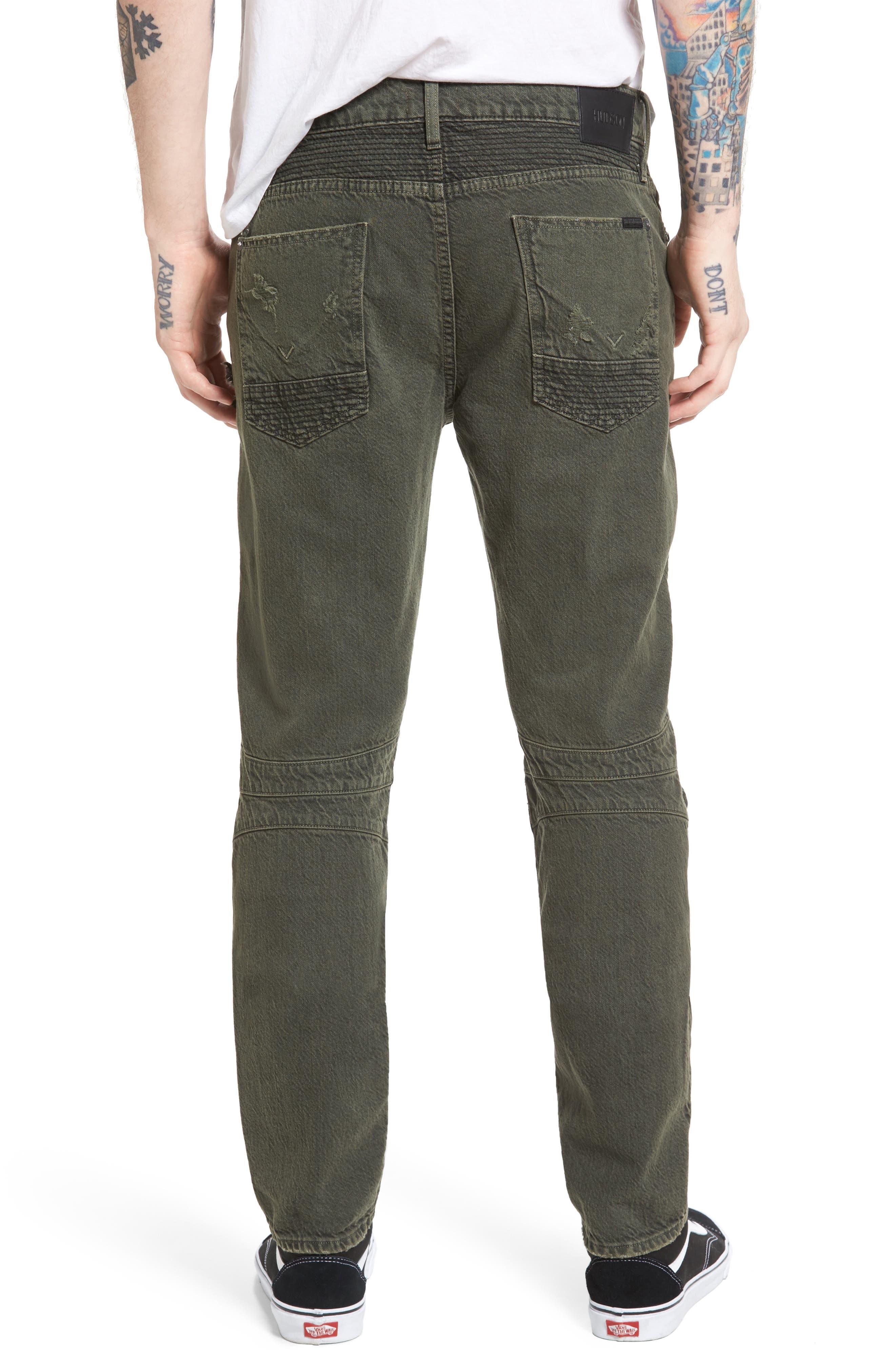 Blinder Biker Skinny Fit Jeans,                             Alternate thumbnail 2, color,                             Fortitude Green