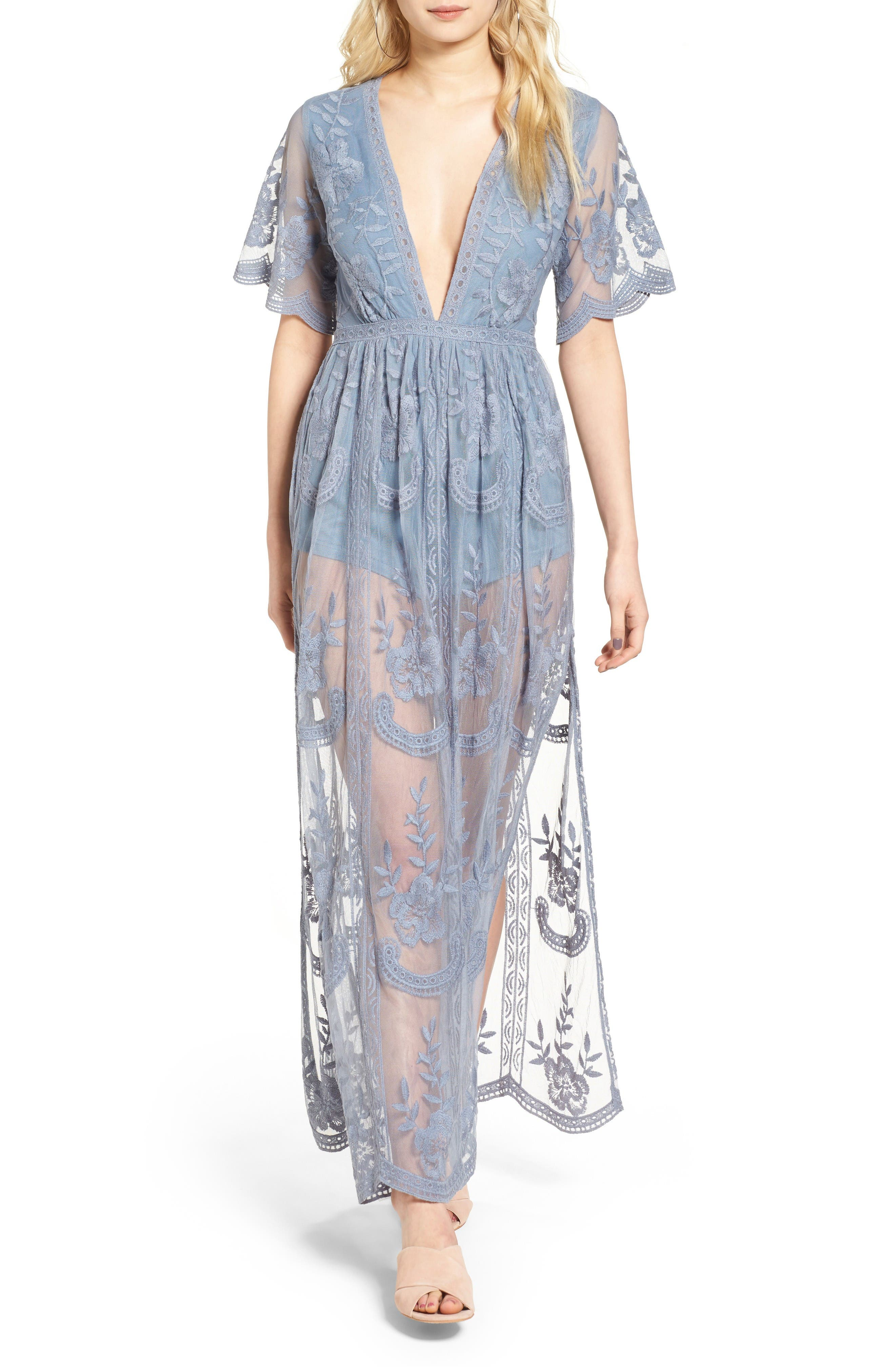 Main Image - Socialite Lace Overlay Romper