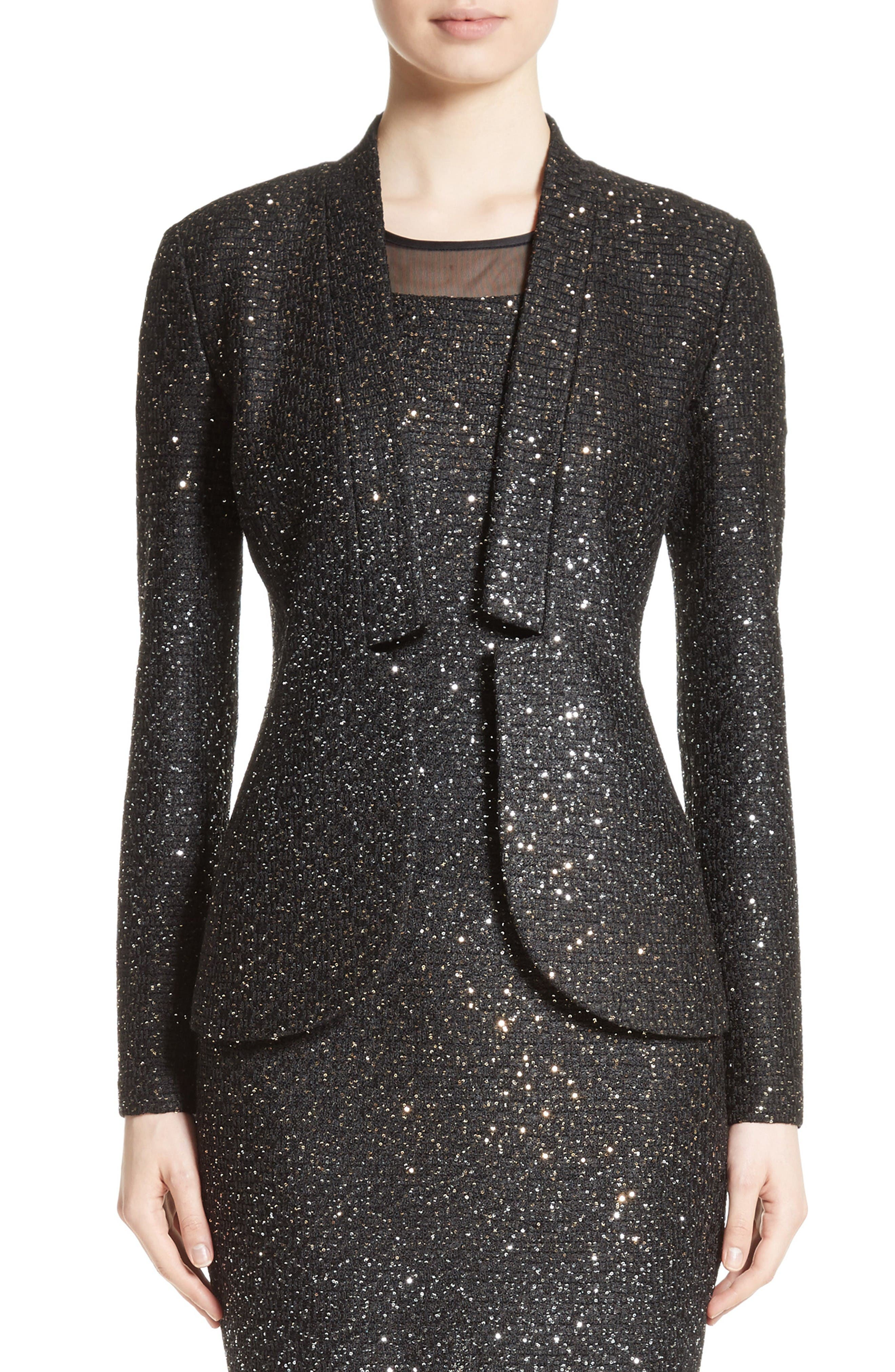 Main Image - St. John Collection Pranay Sequin Knit Jacket